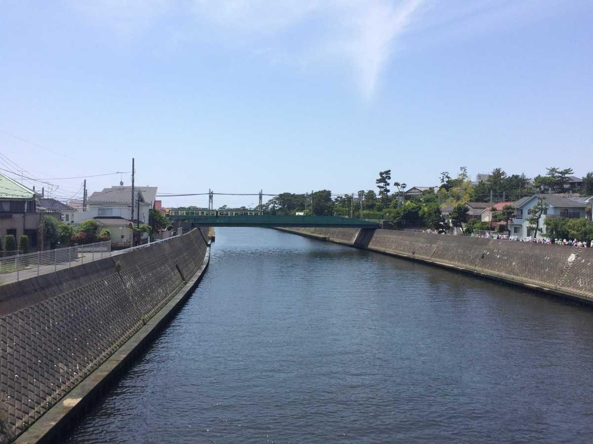 境川江ノ電鉄橋