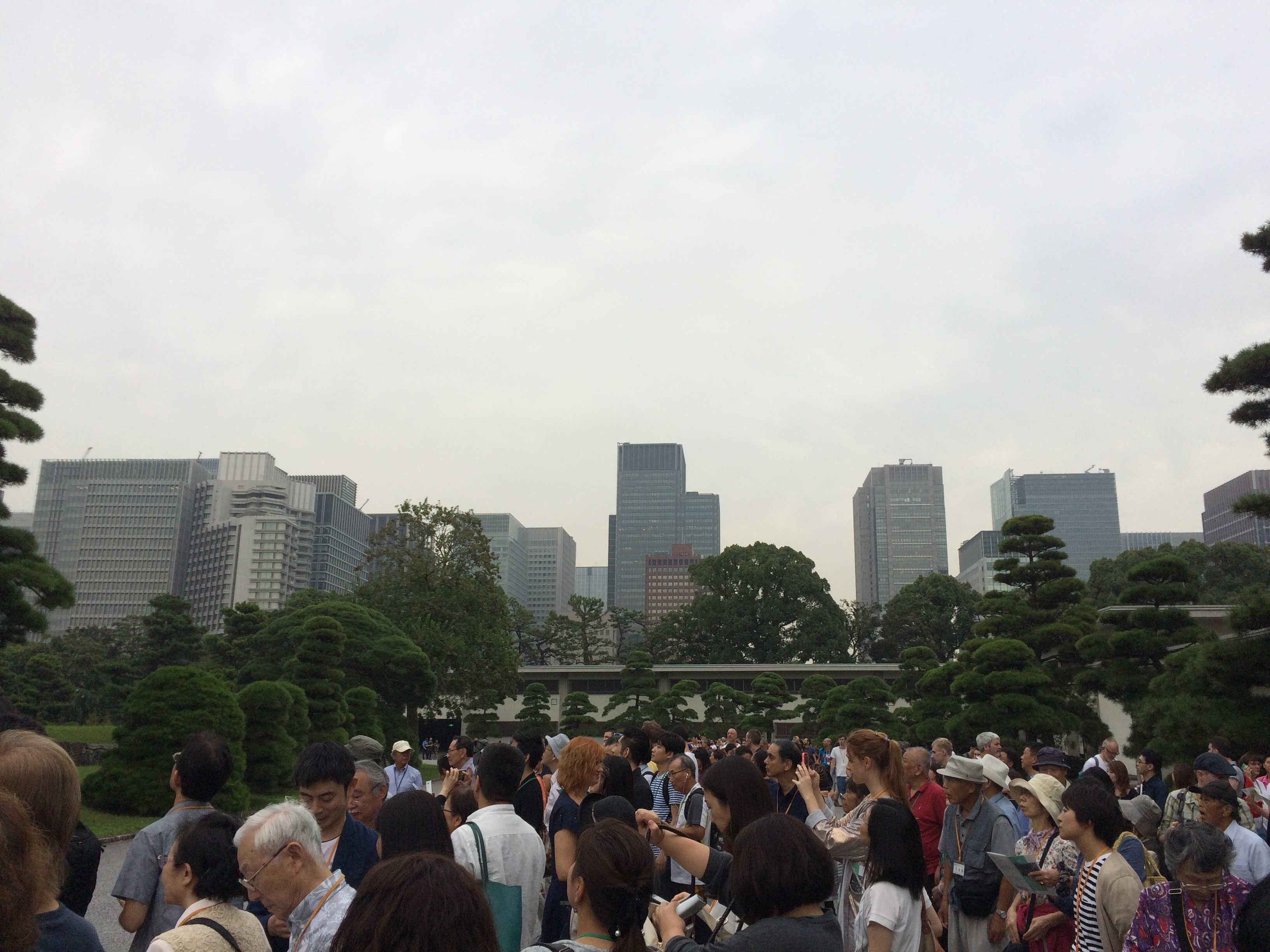 皇居から東京駅方面
