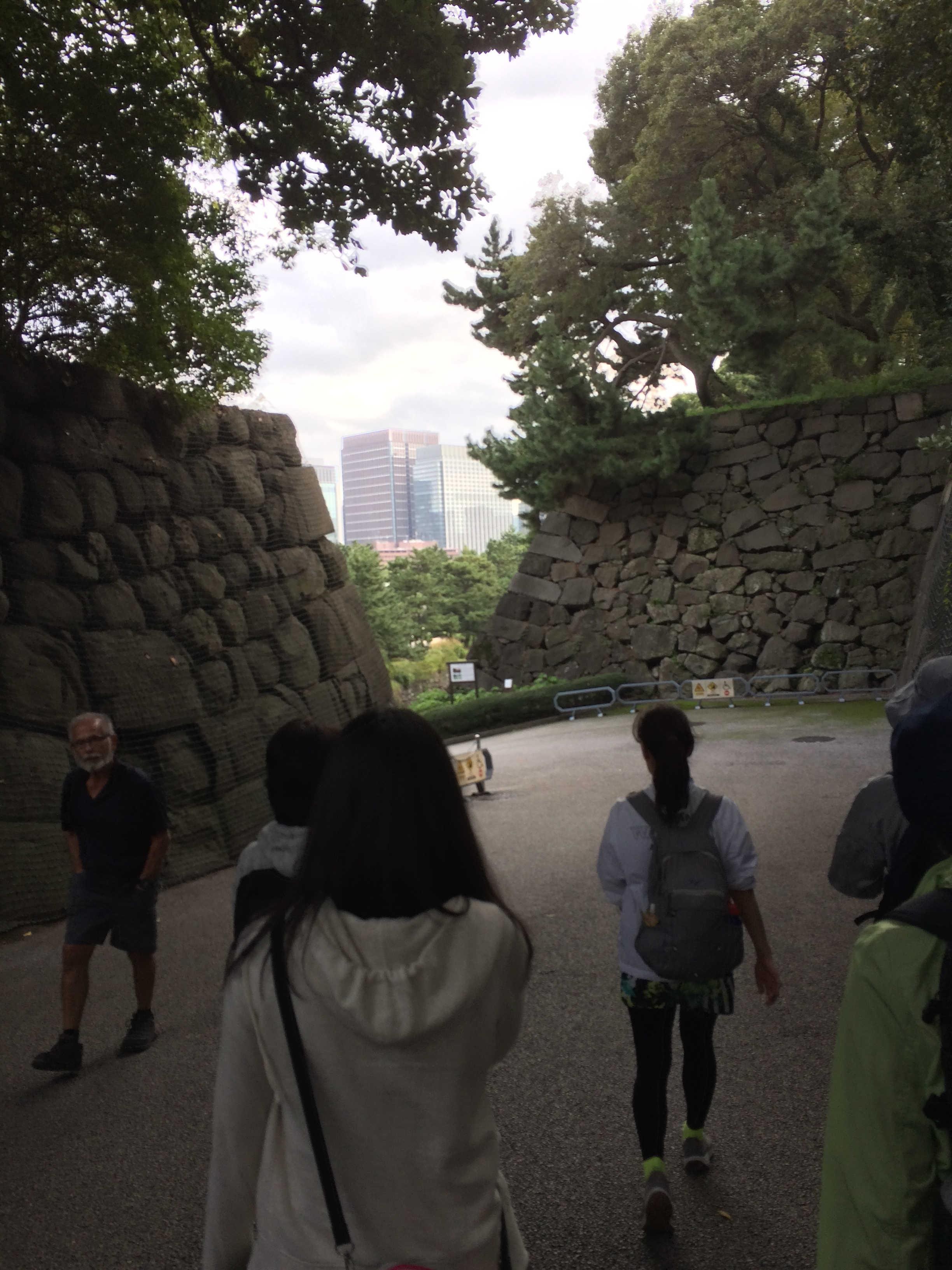 皇居東御苑二の丸庭園方面