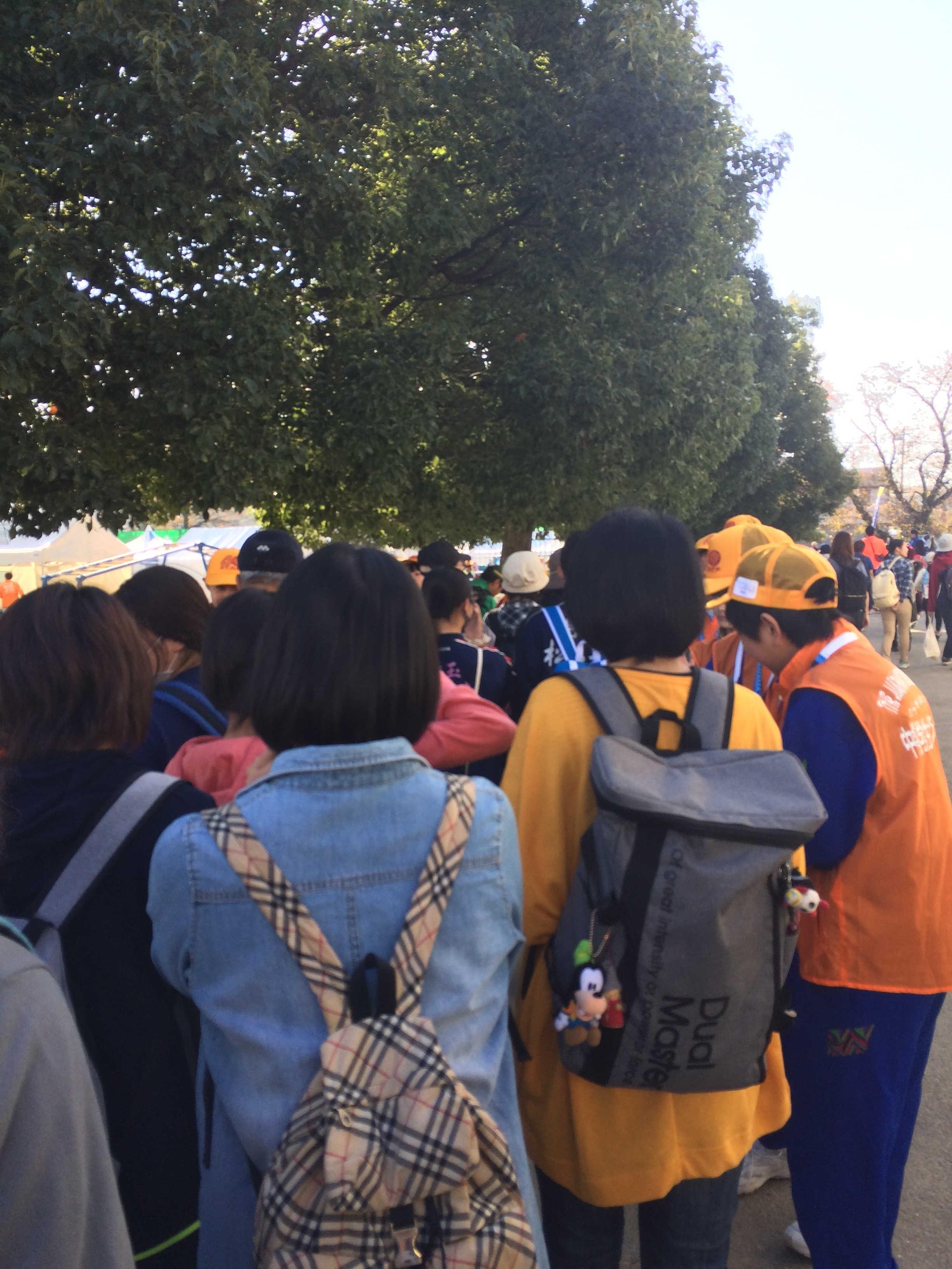 中央会場・松一小(スタート