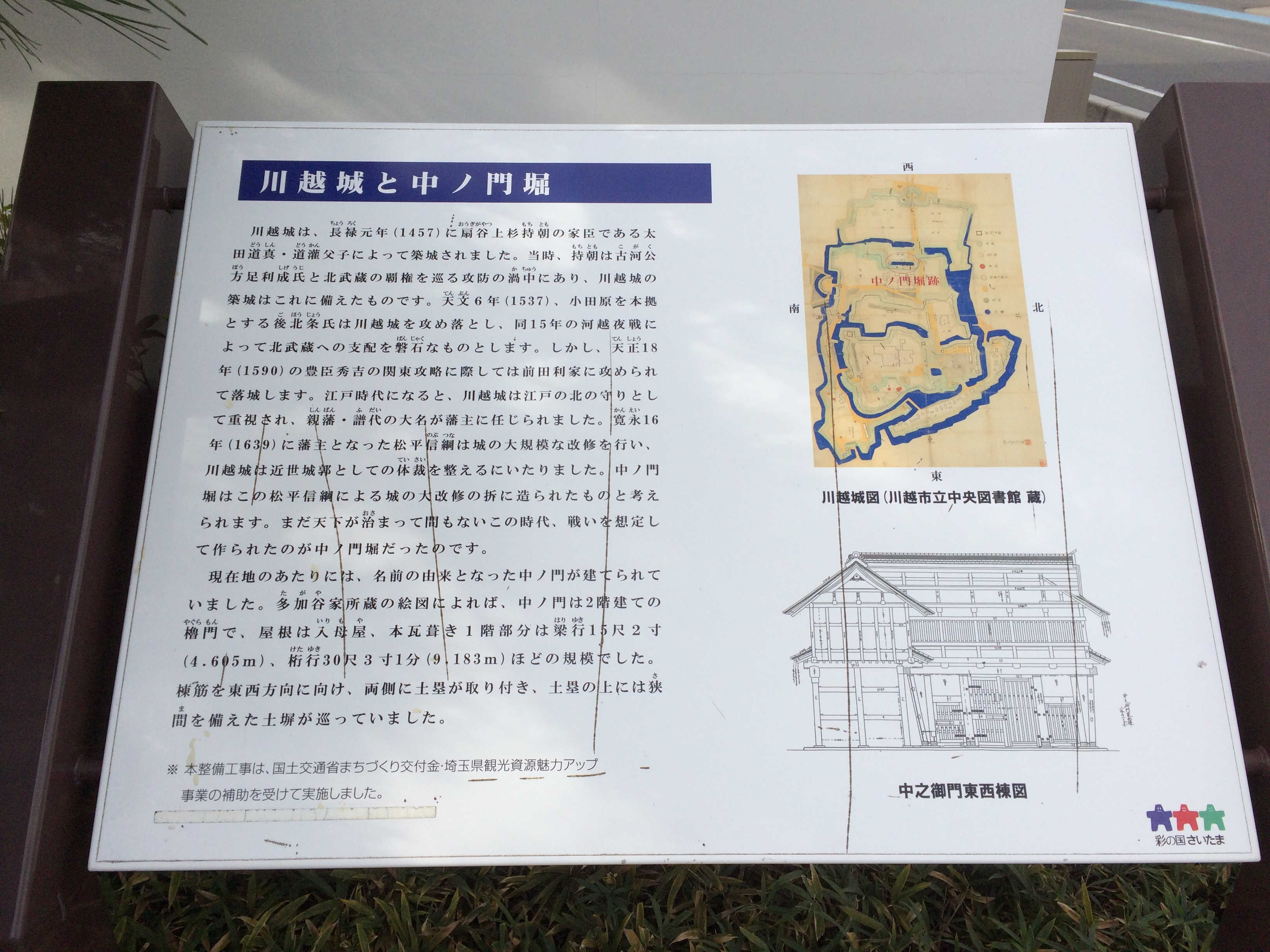 川越城と中ノ門堀跡