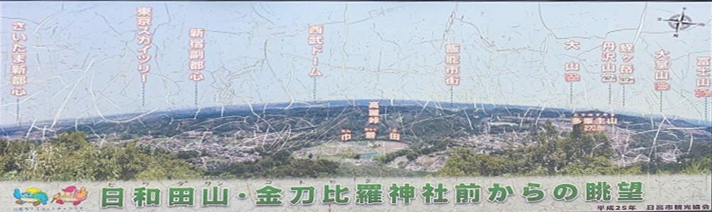 日和田山・金刀比羅神社からの眺望