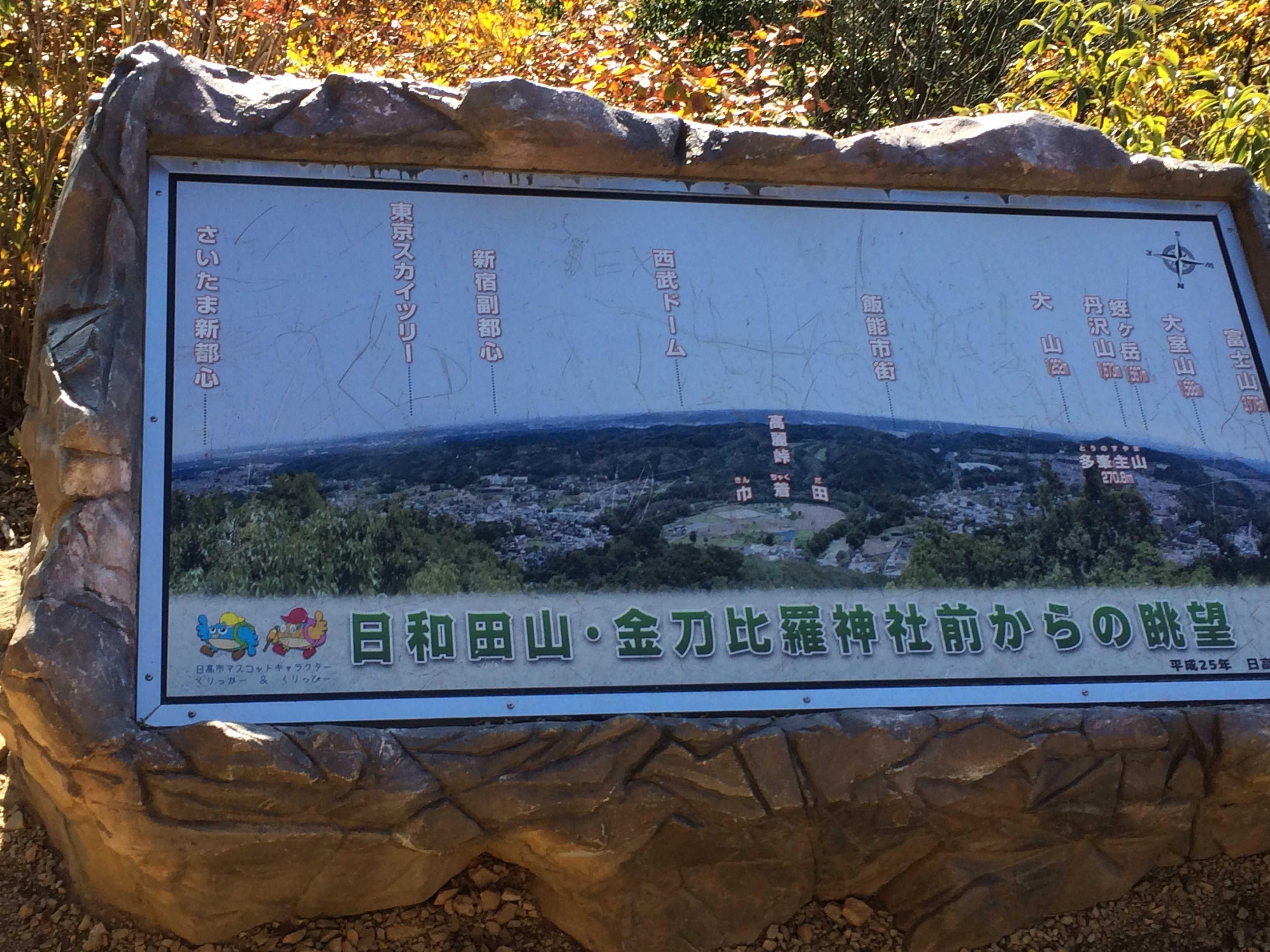 金刀比羅神社・日和田山からの眺望
