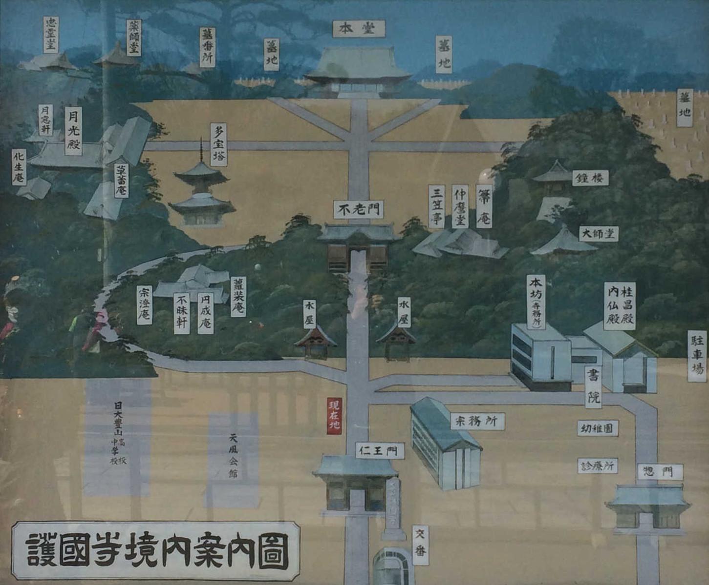 護国寺境内案内図