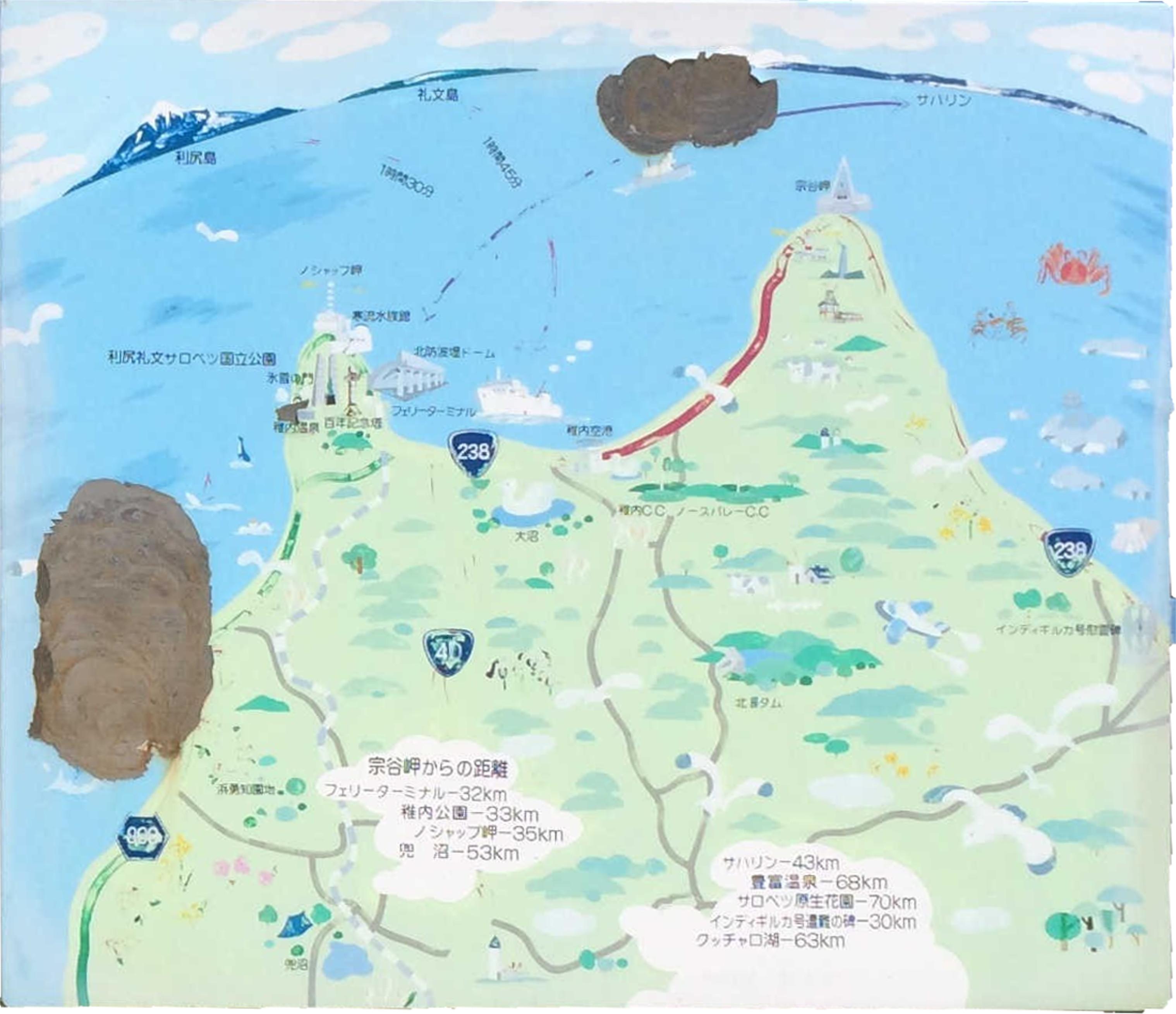 宗谷岬案内図(右)