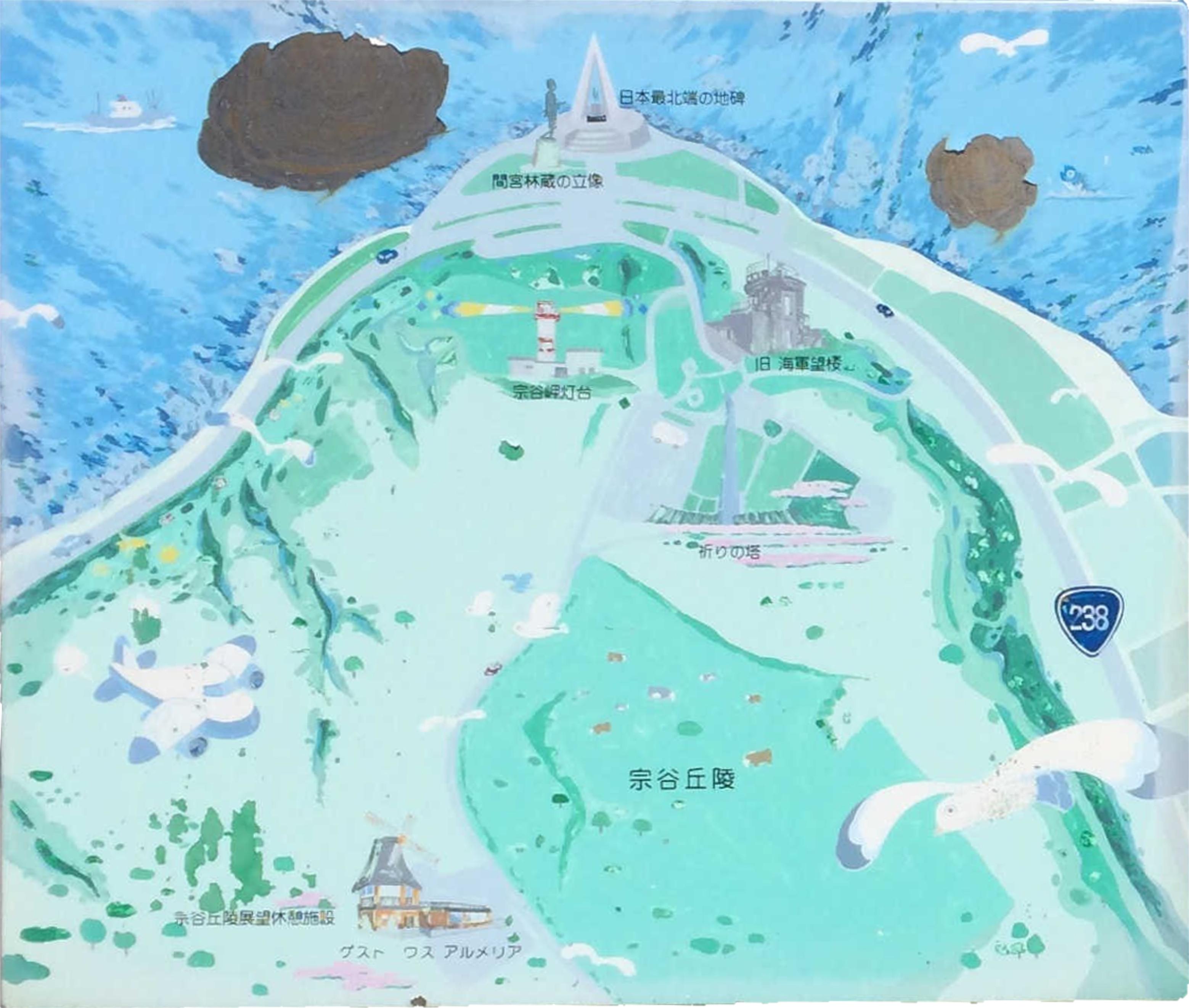 宗谷岬案内図(左)