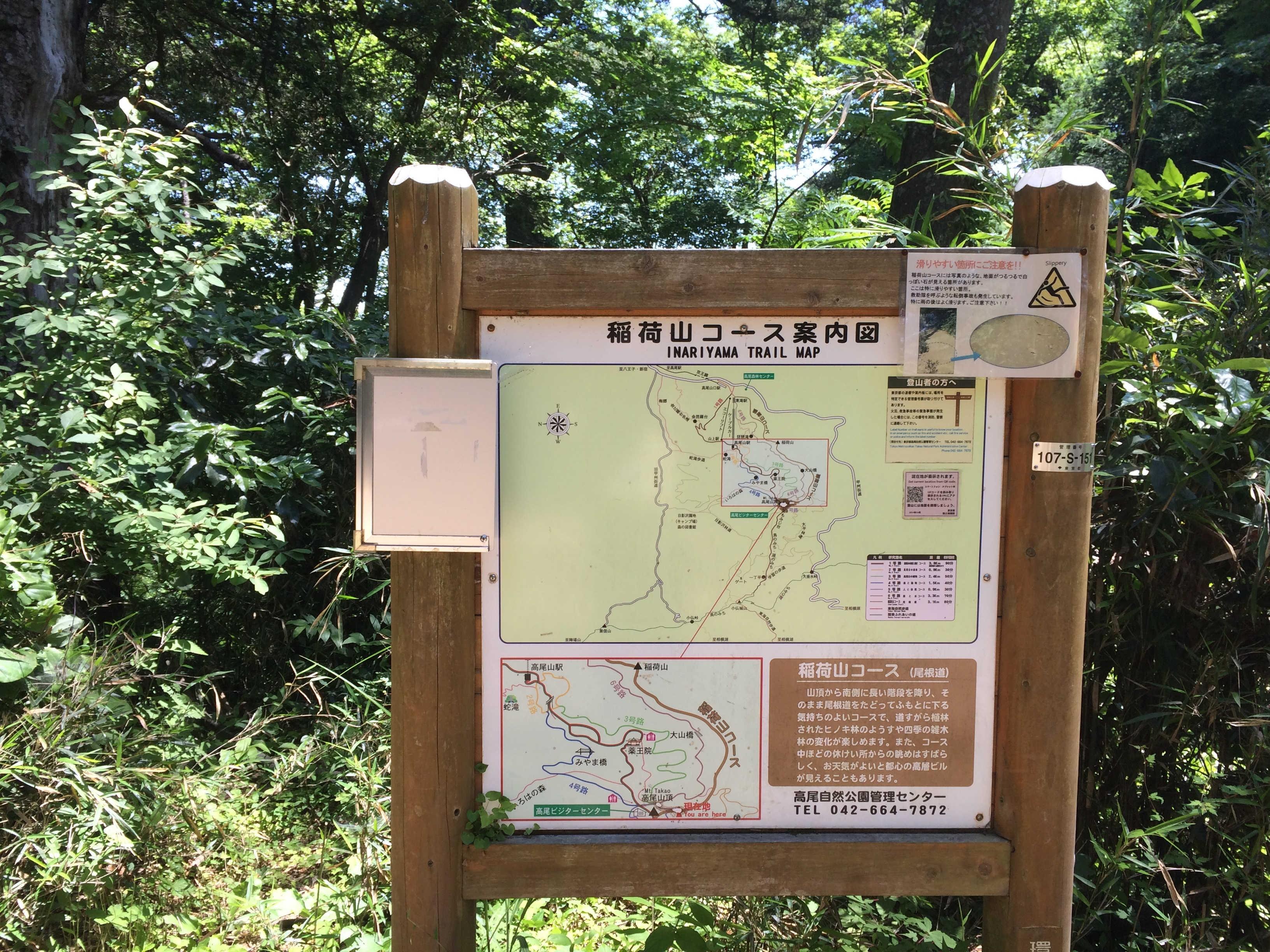 稲荷山コース案内図