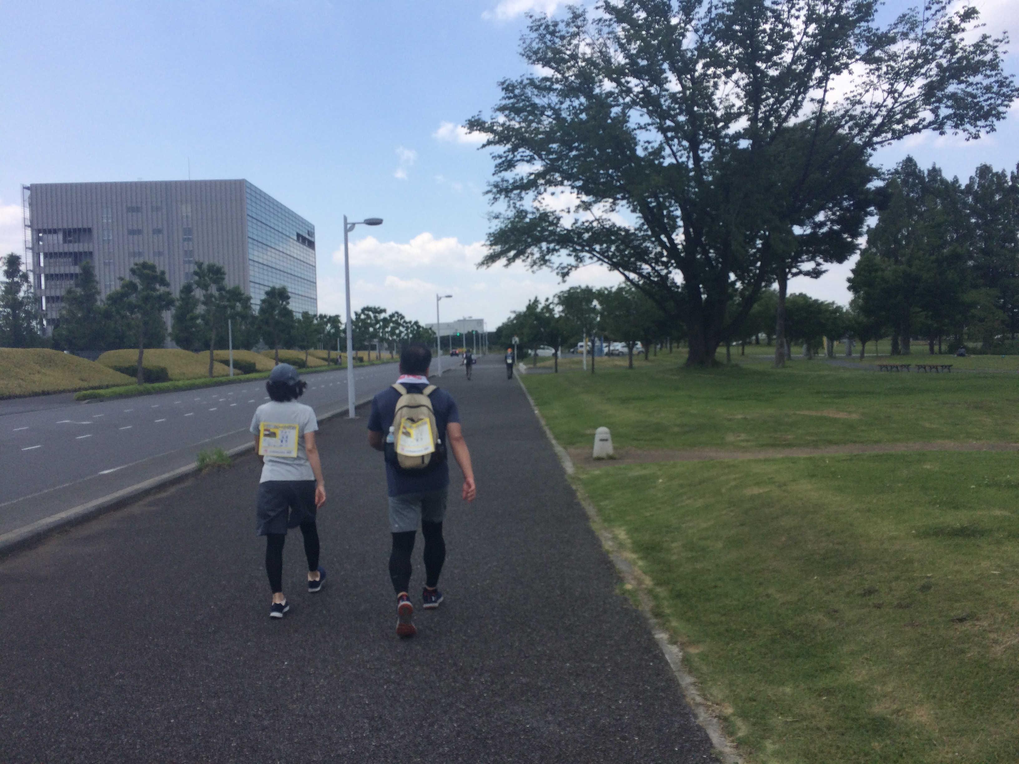 研究学園駅前公園会場(ゴール)