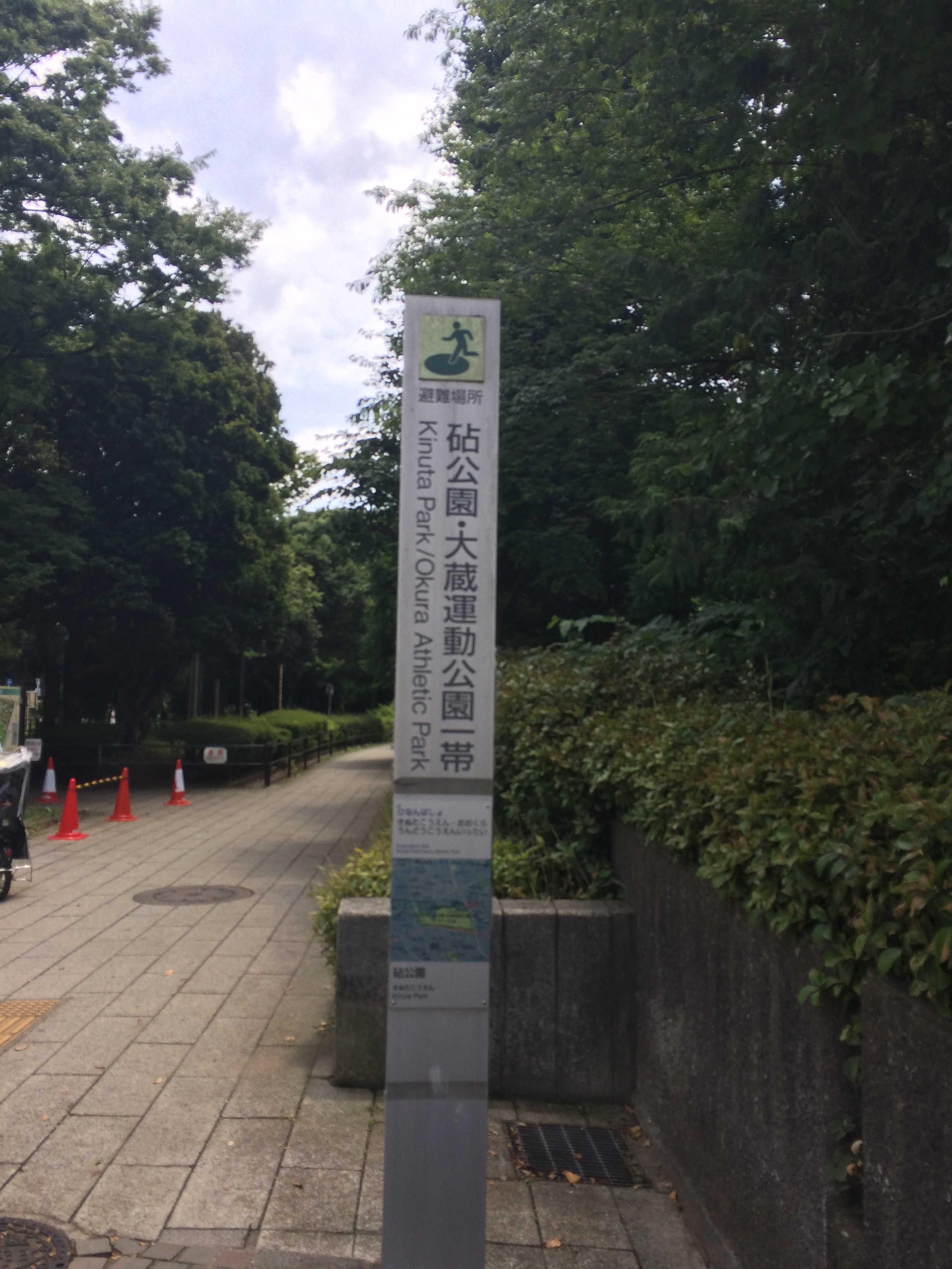 砧公園・大蔵運動公園一帯
