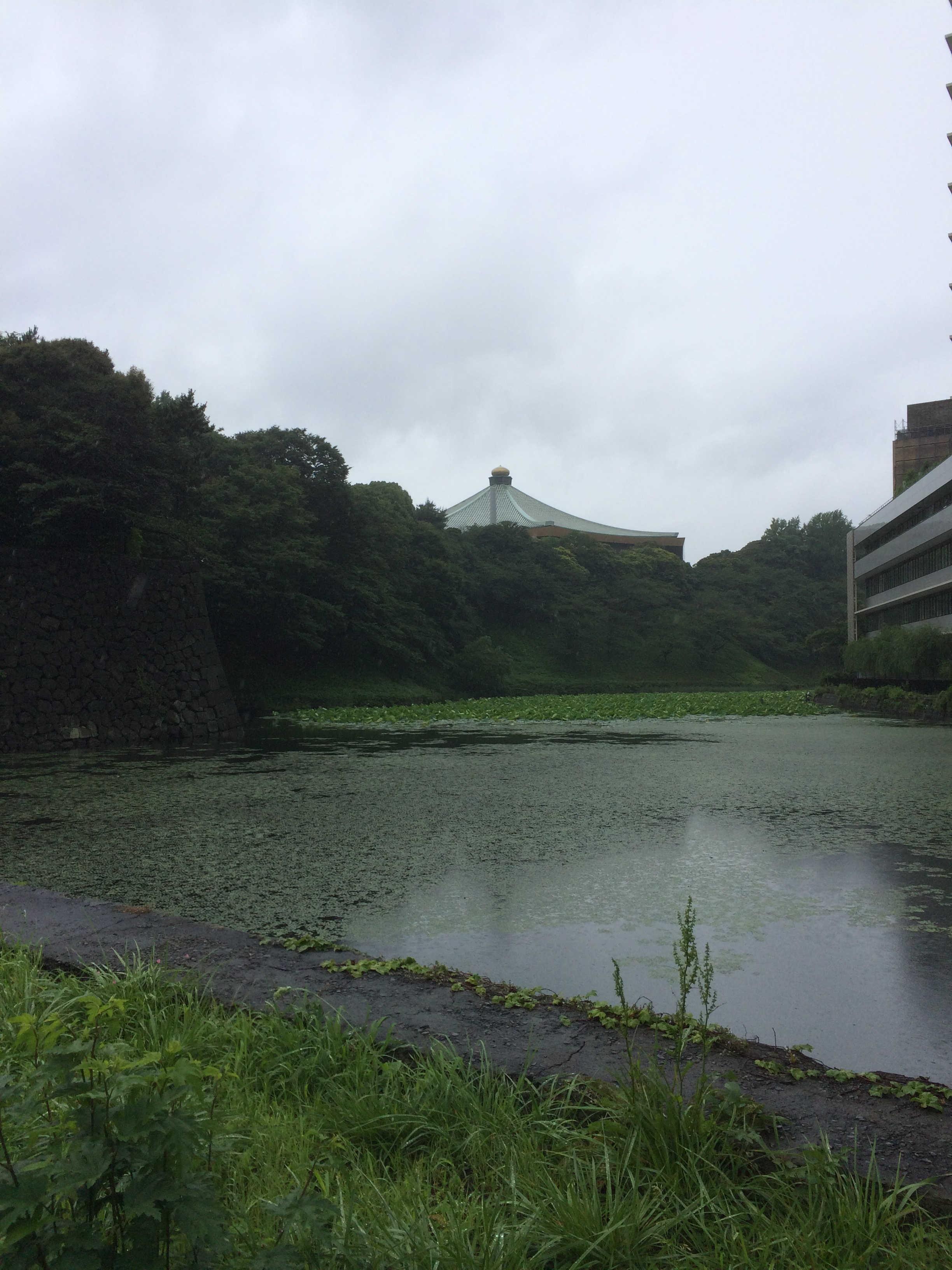 清水門入口から日本武道館の景観