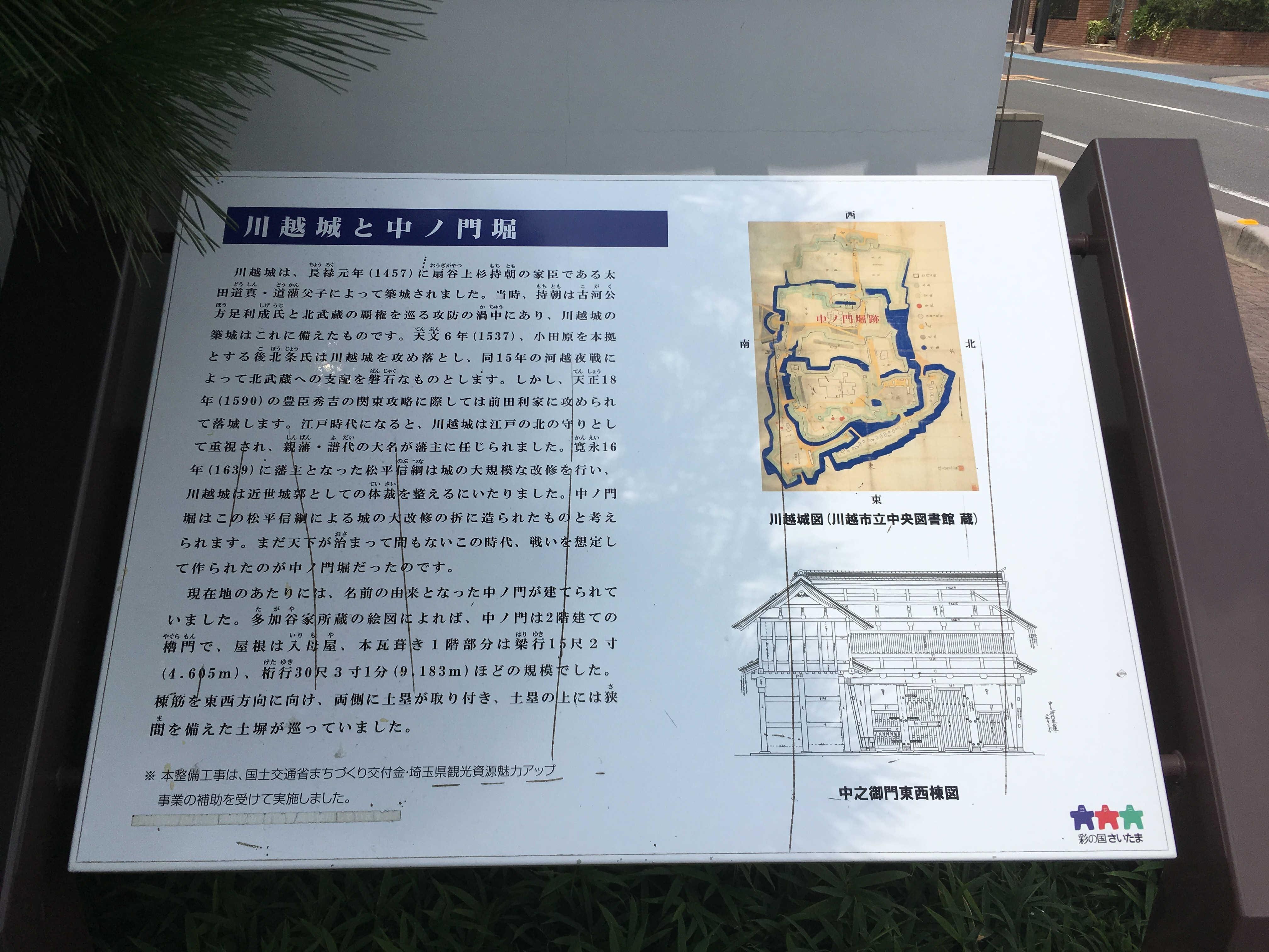 川越城と中ノ門堀