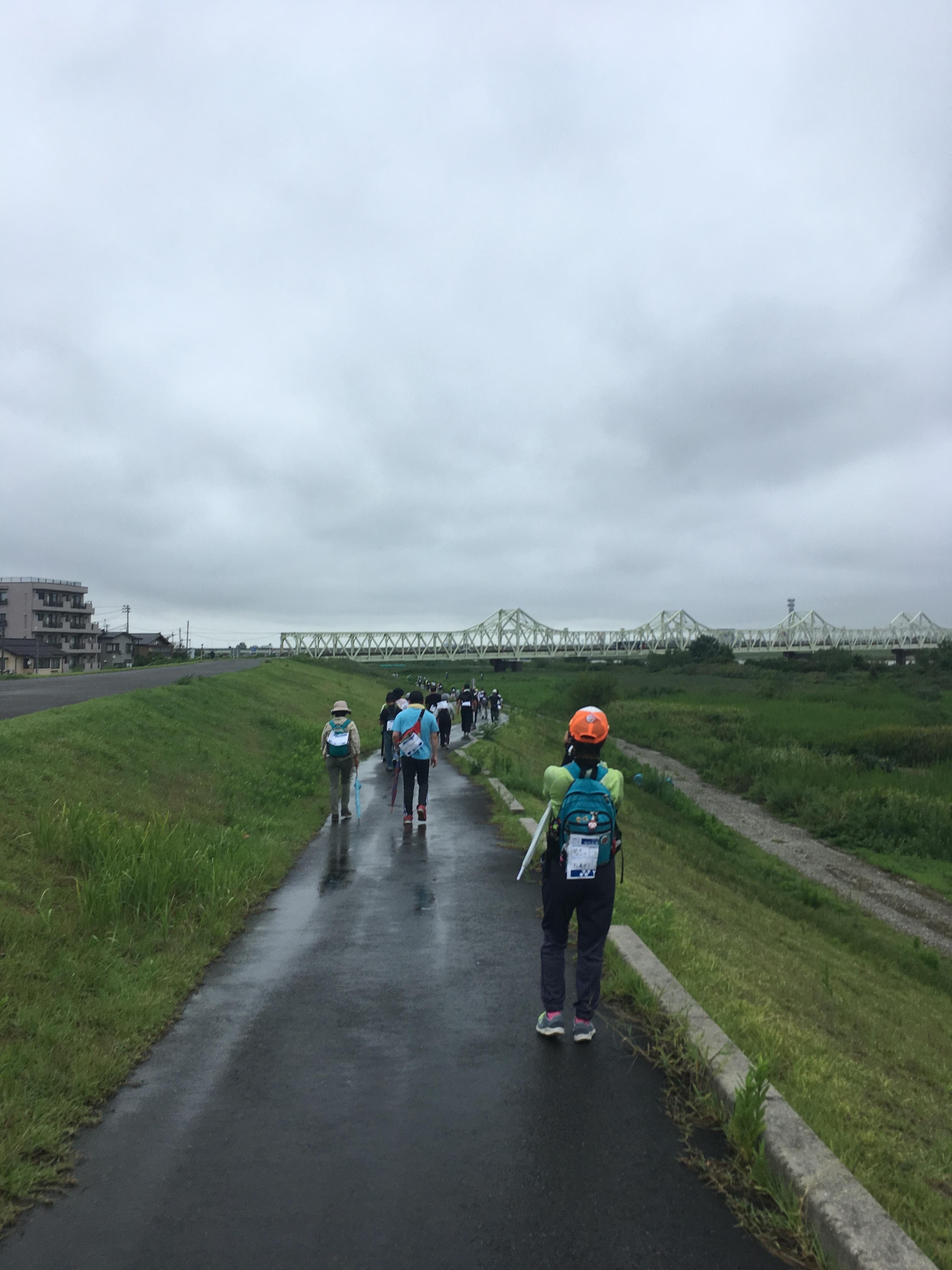 信濃川堤防道路