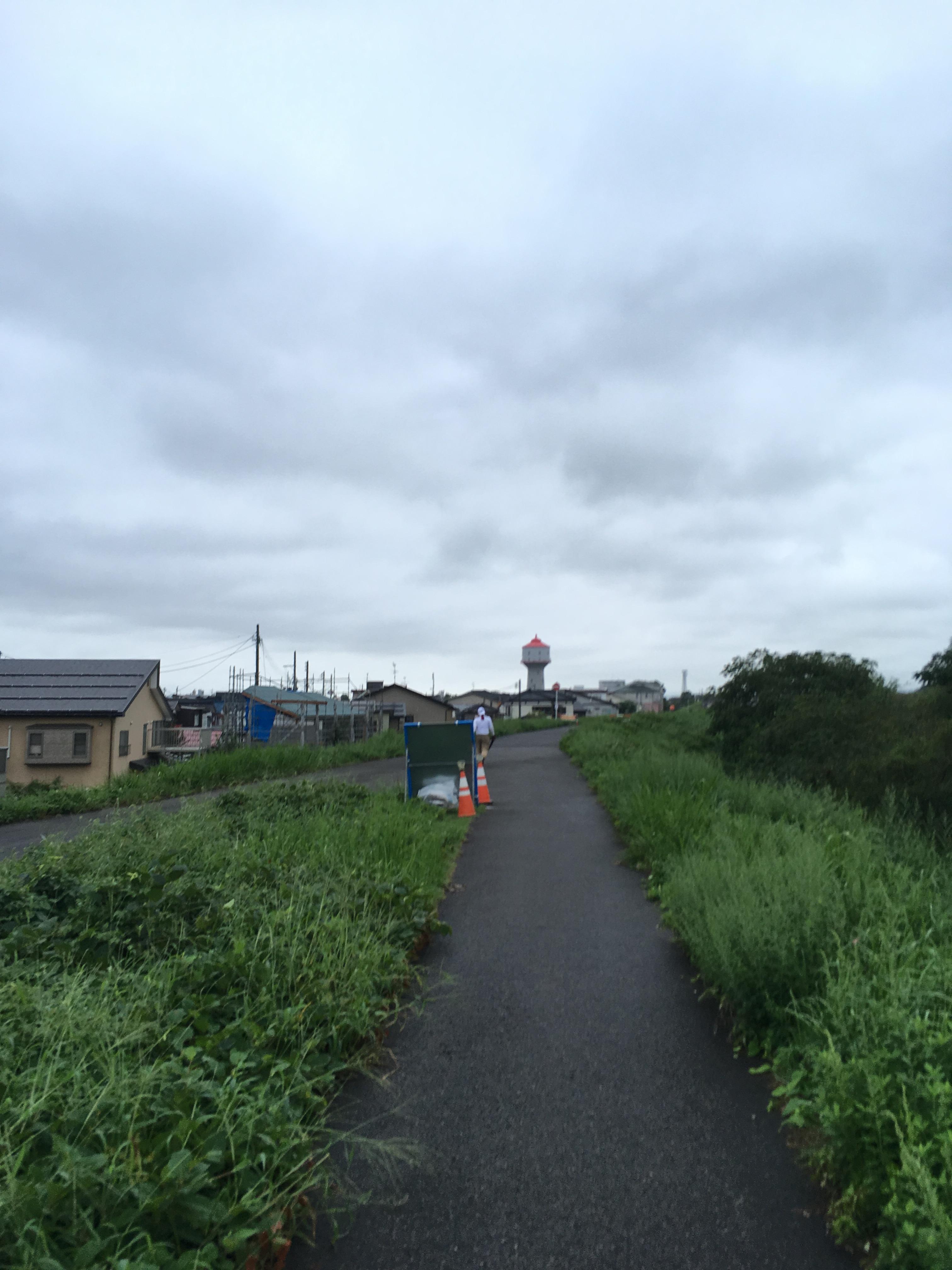 信濃川堤防道