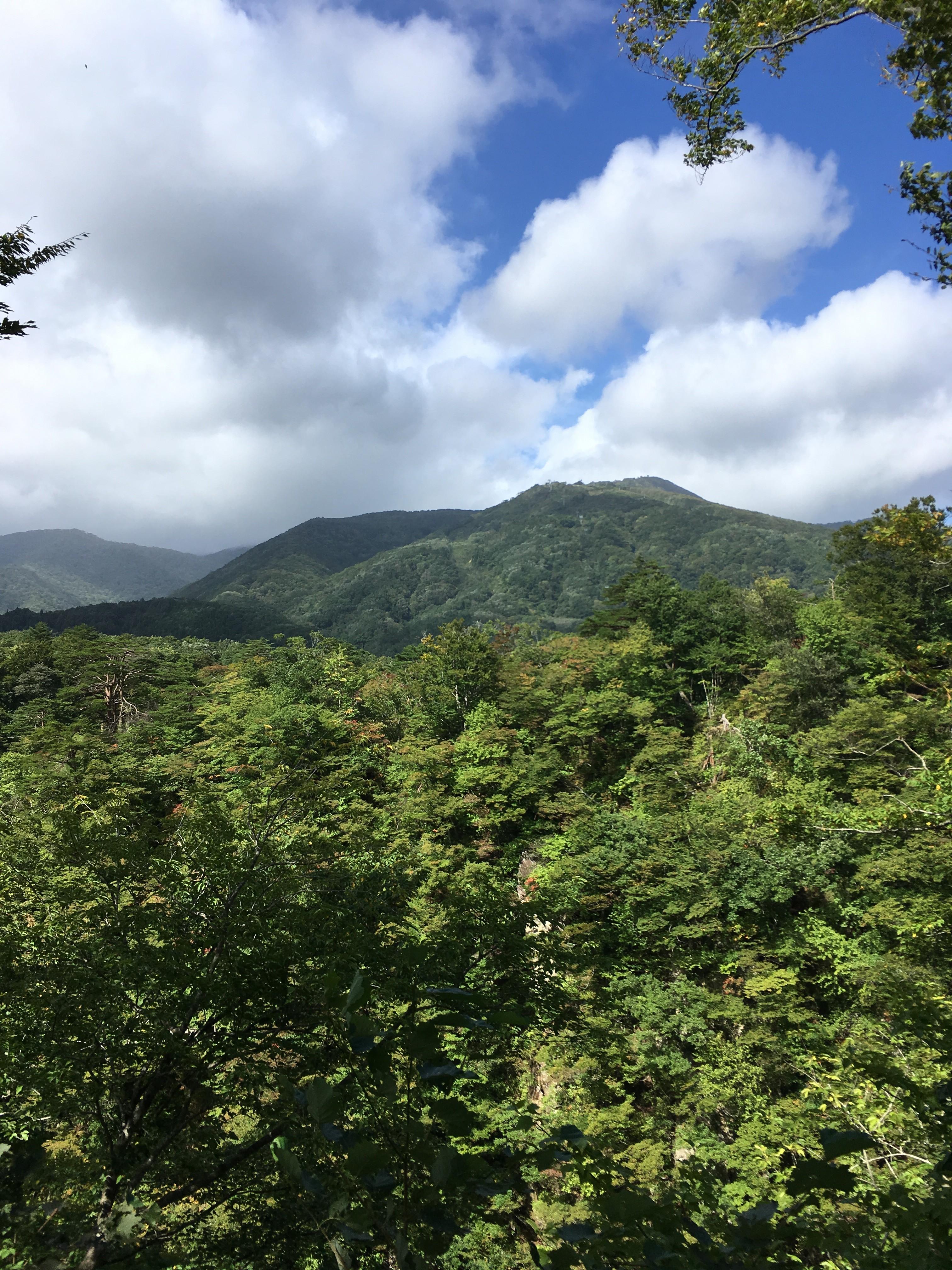 鳴子峡からの山々