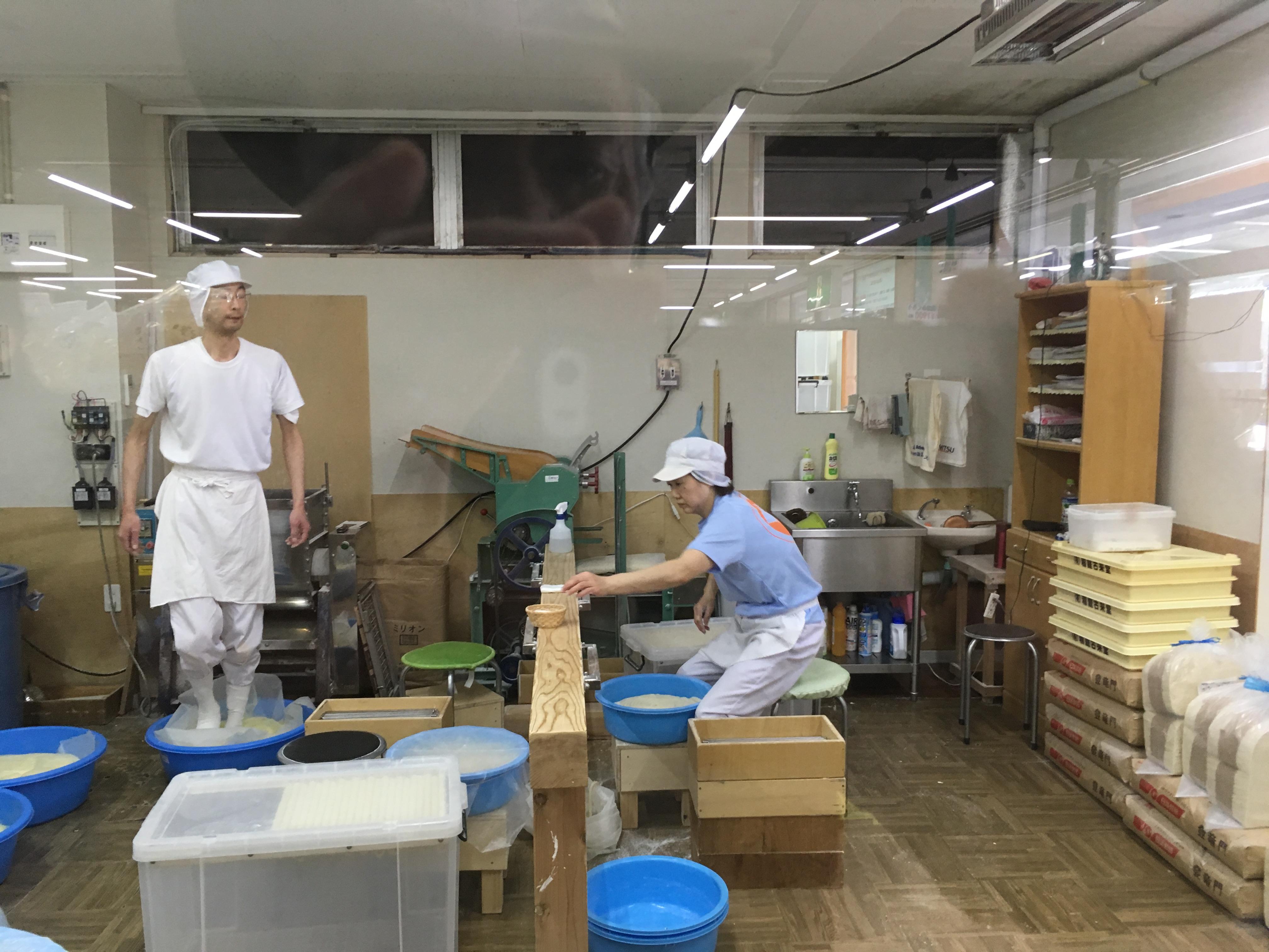 稲庭うどん製造工程