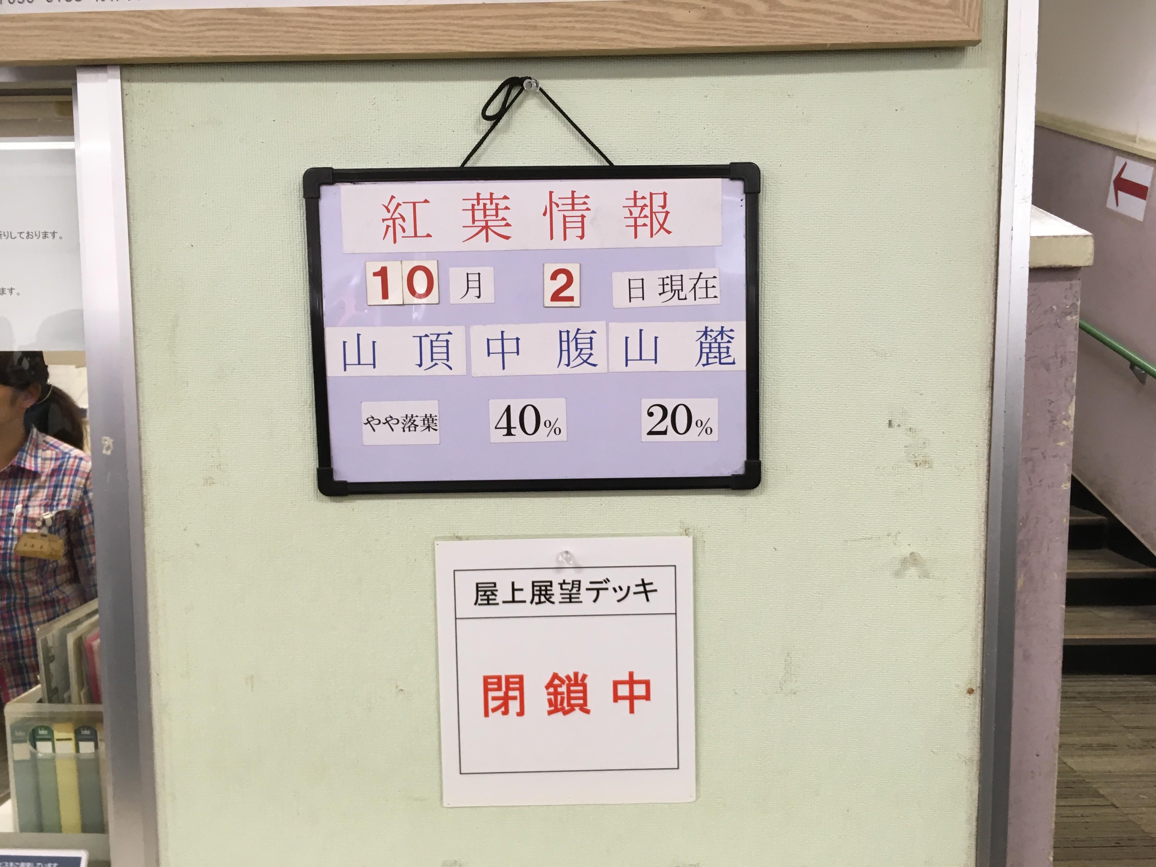 八甲田ロープウェイ紅葉情報