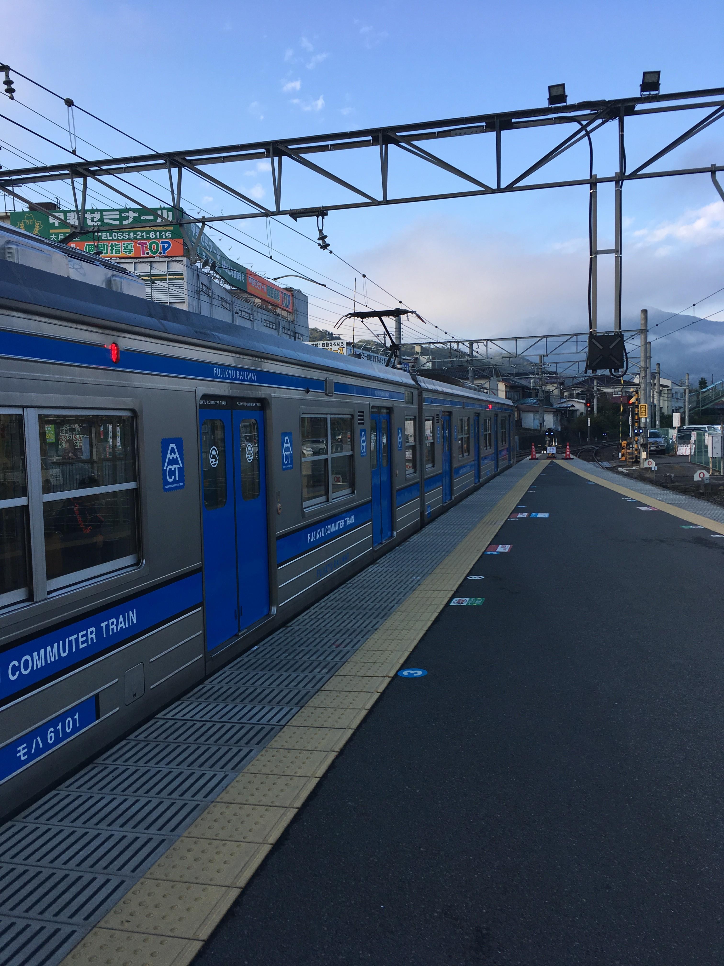 富士急行大月駅ホーム