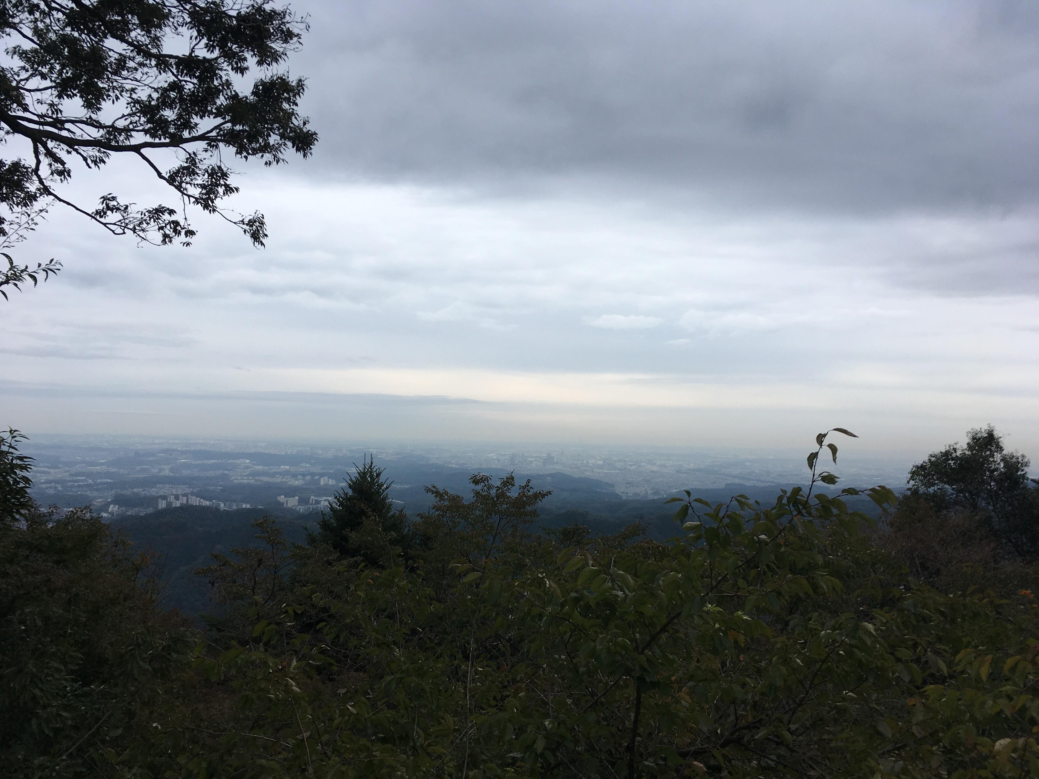 高尾山ケーブルカー駅展望台からの景観