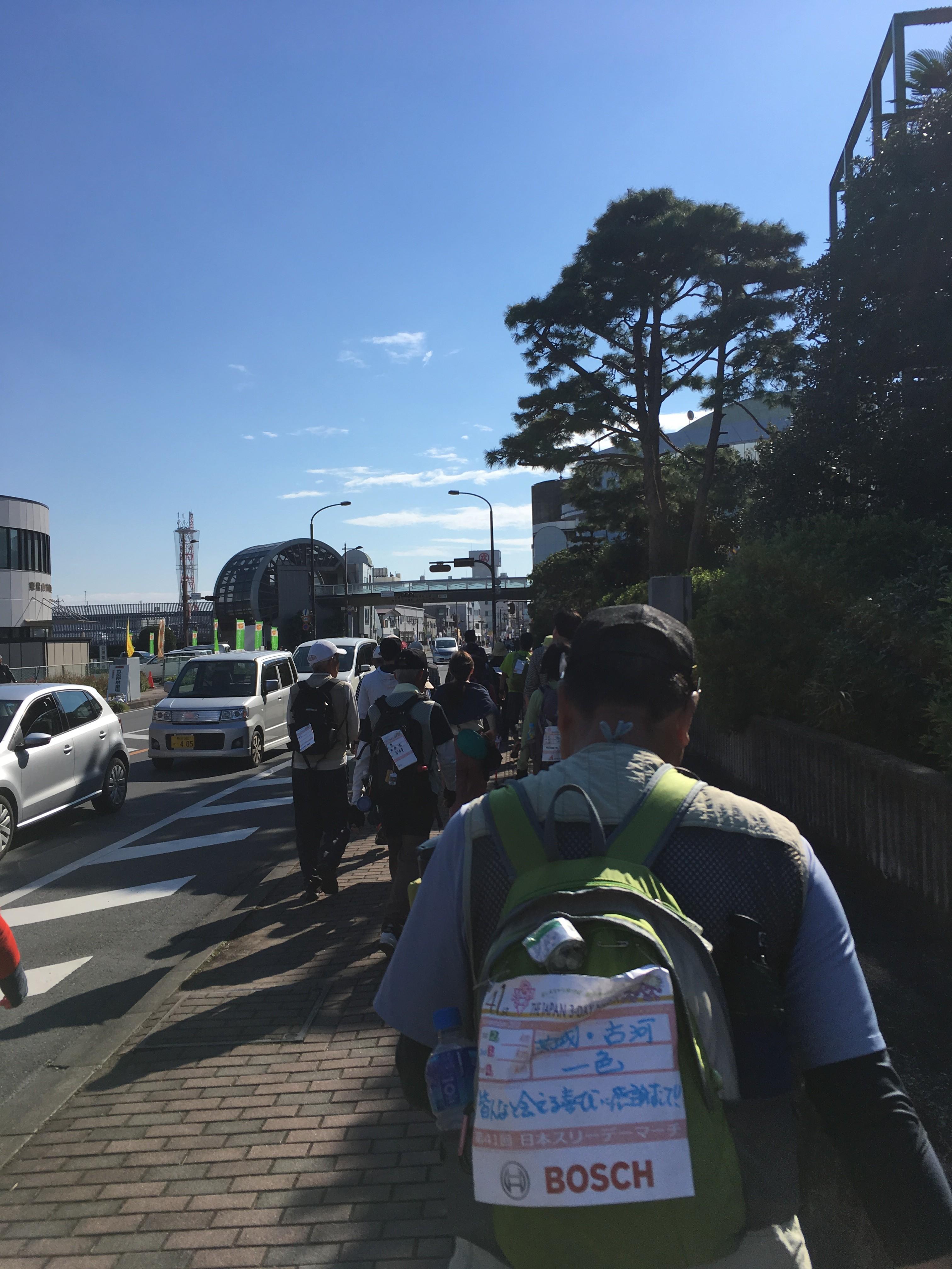 中央会場・松一小(ゴール)