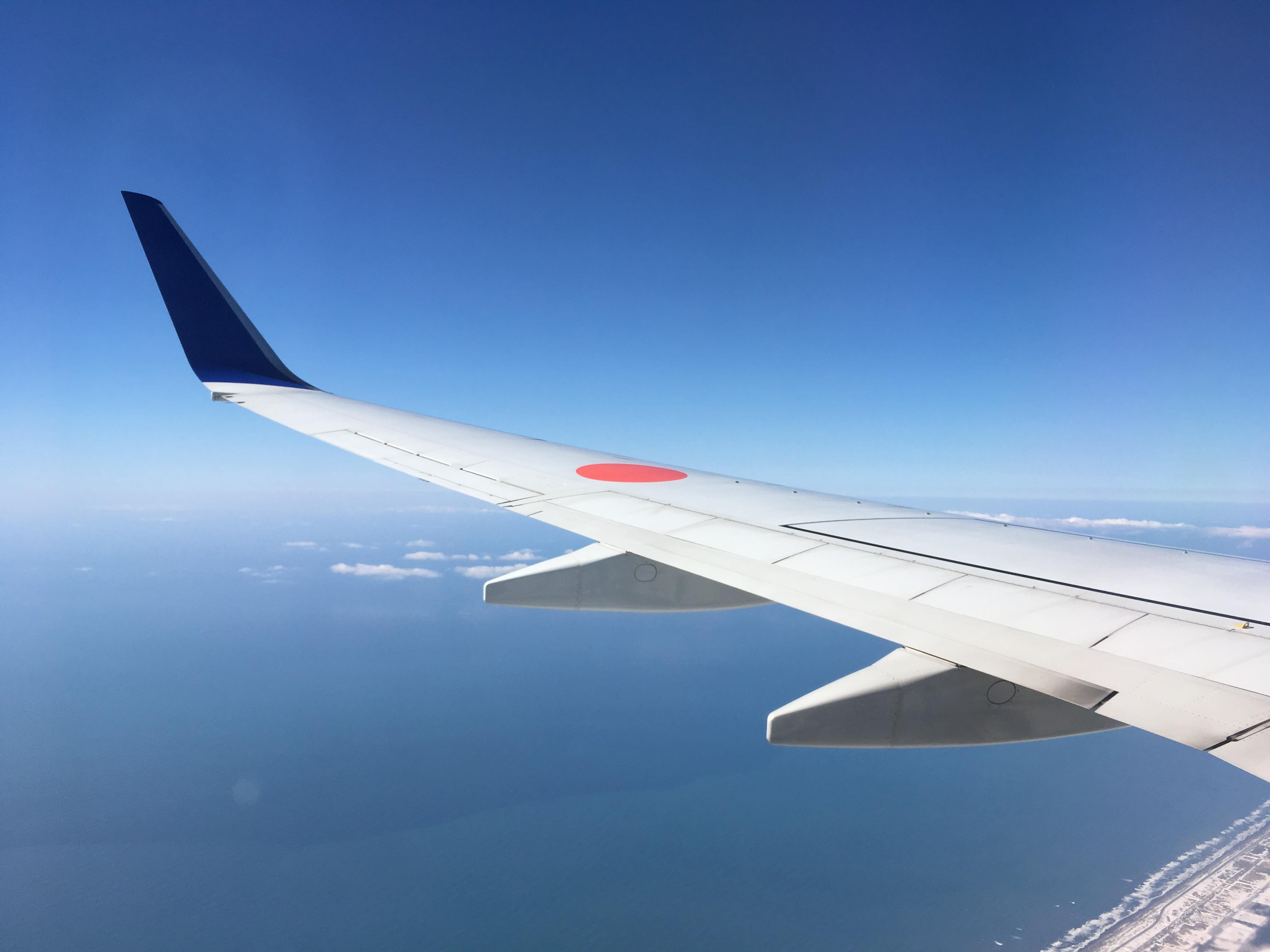 青森県むつ市上空