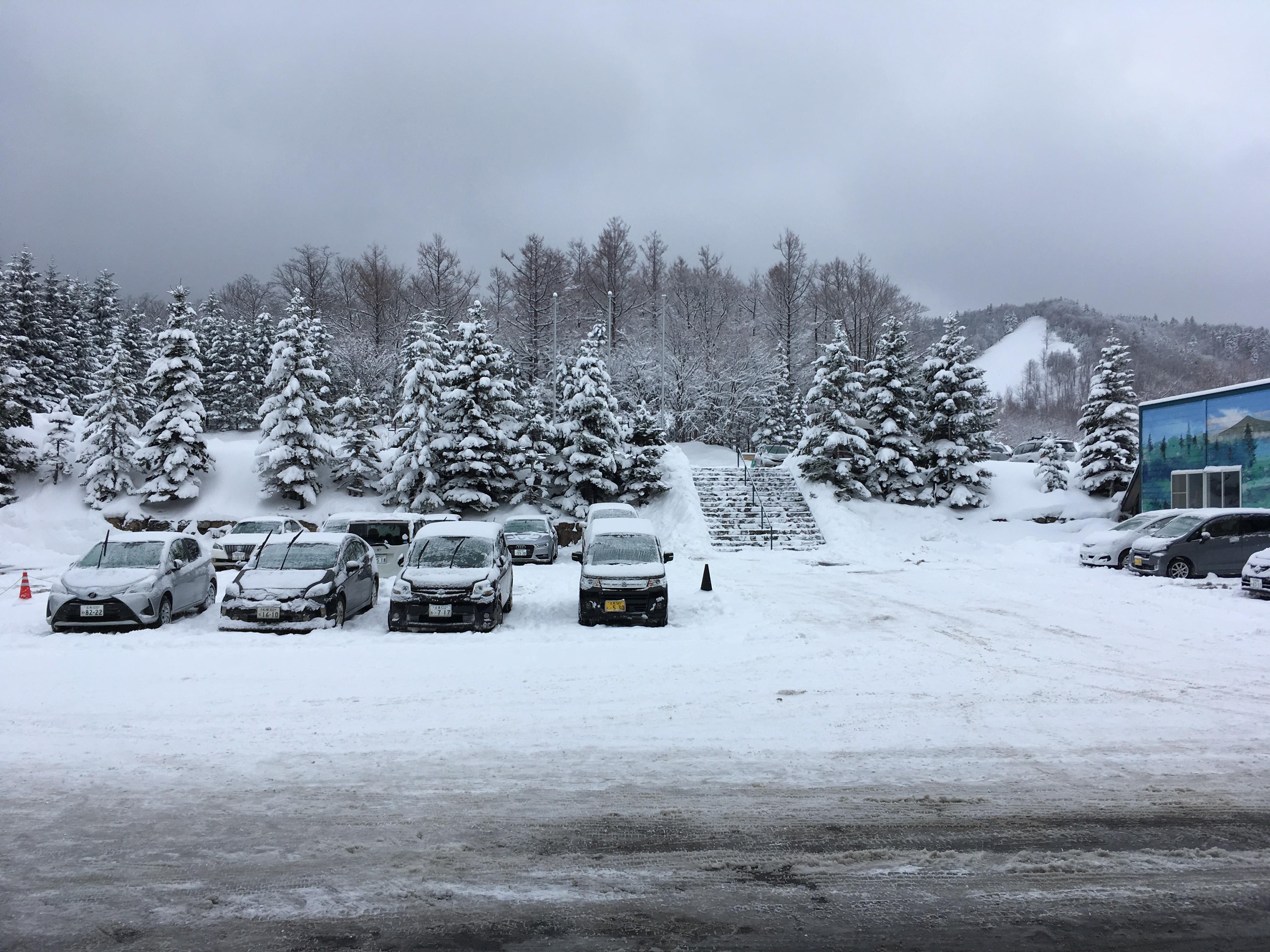 知床第一ホテル駐車場からの風景