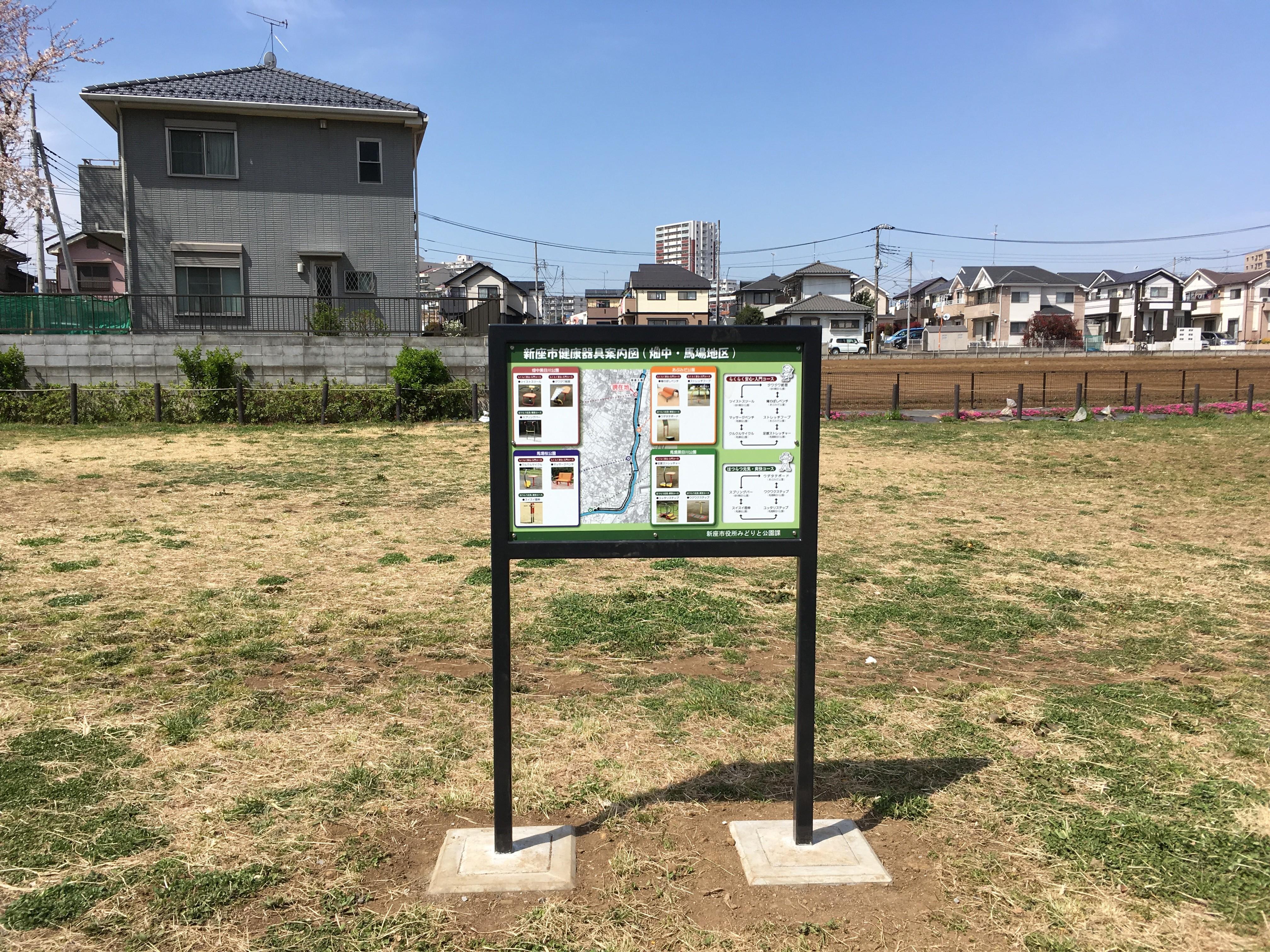 新座市健康器具案内図(畑中・馬場地区)