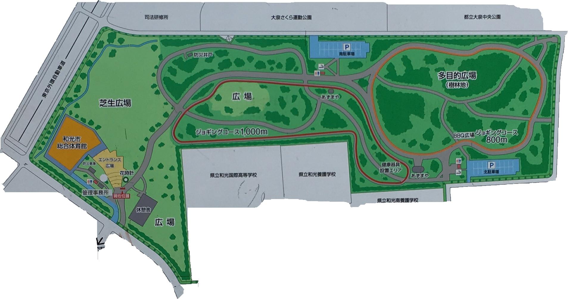 県営和光樹林公園案内図