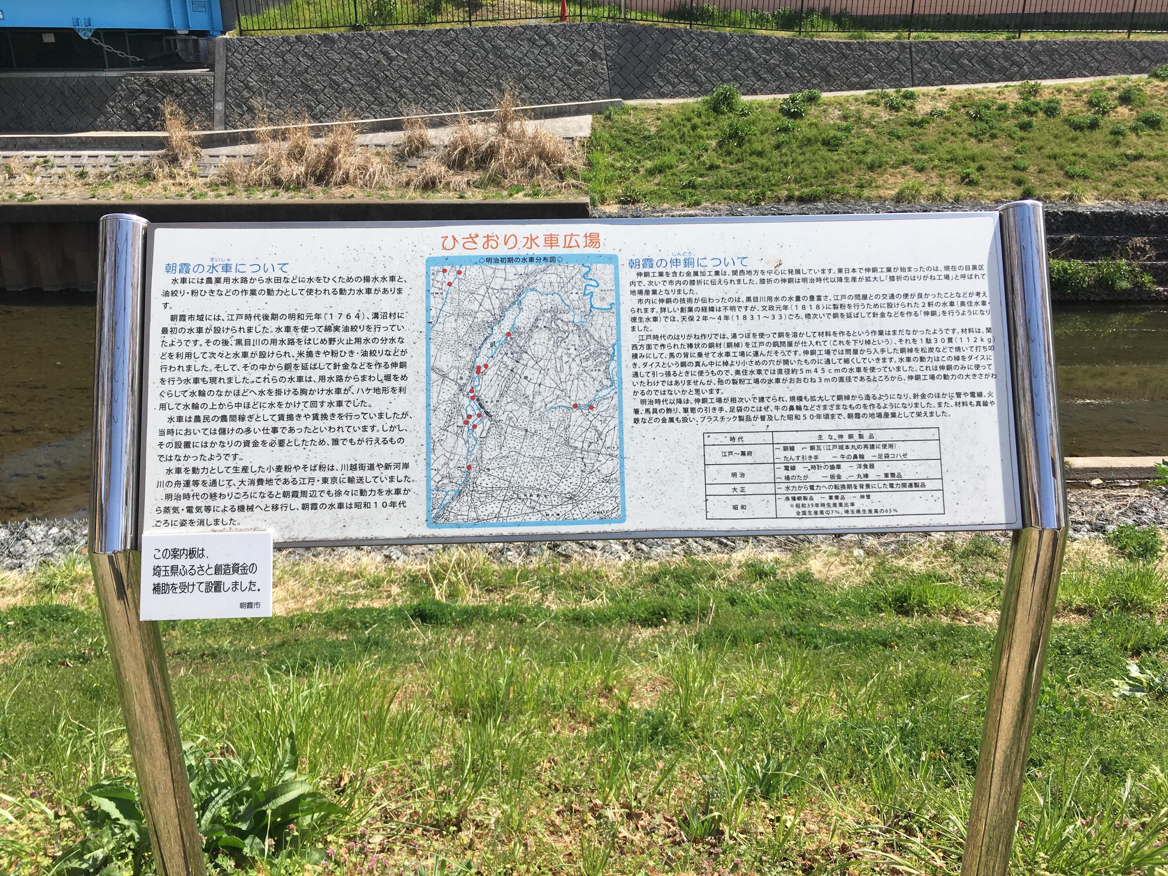 黒目川遊歩道のひざおり水車広場