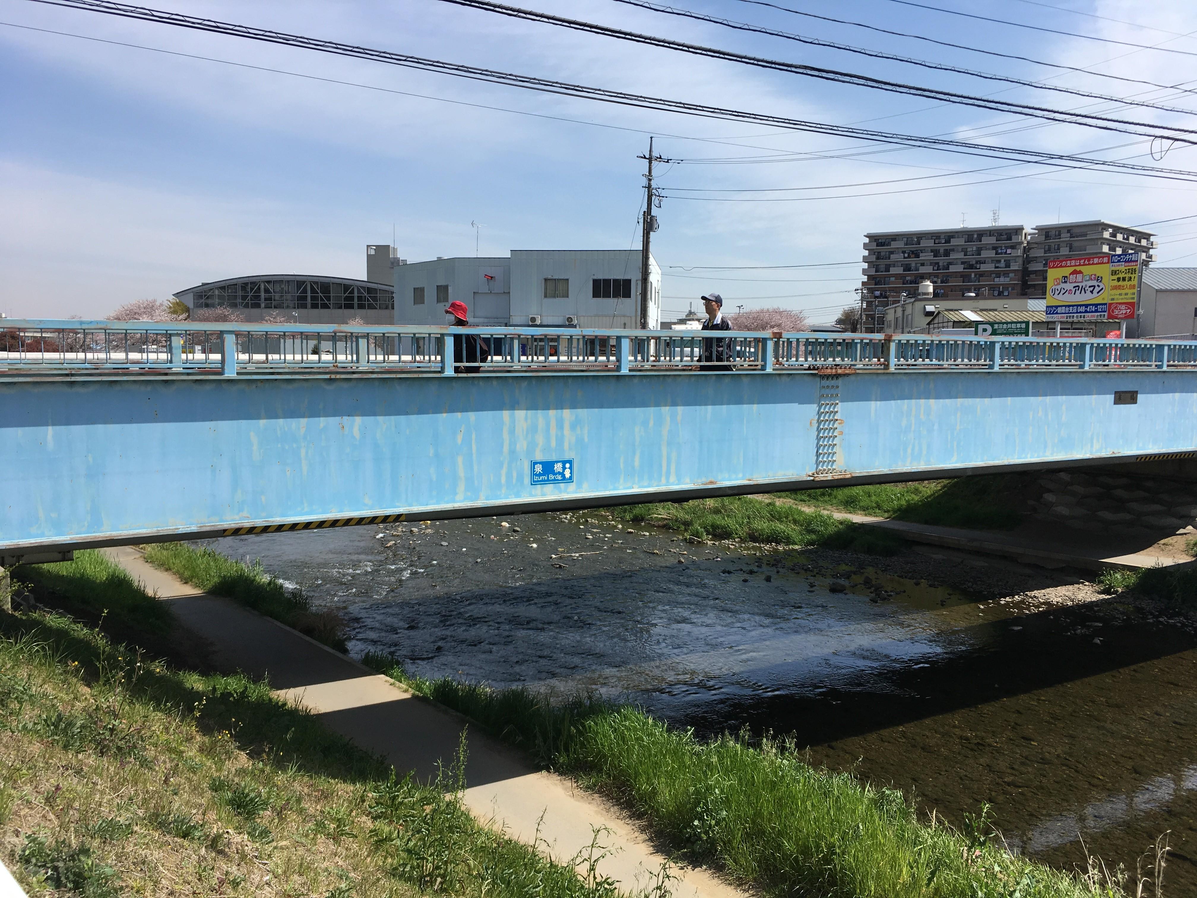 黒目川遊歩道の泉橋