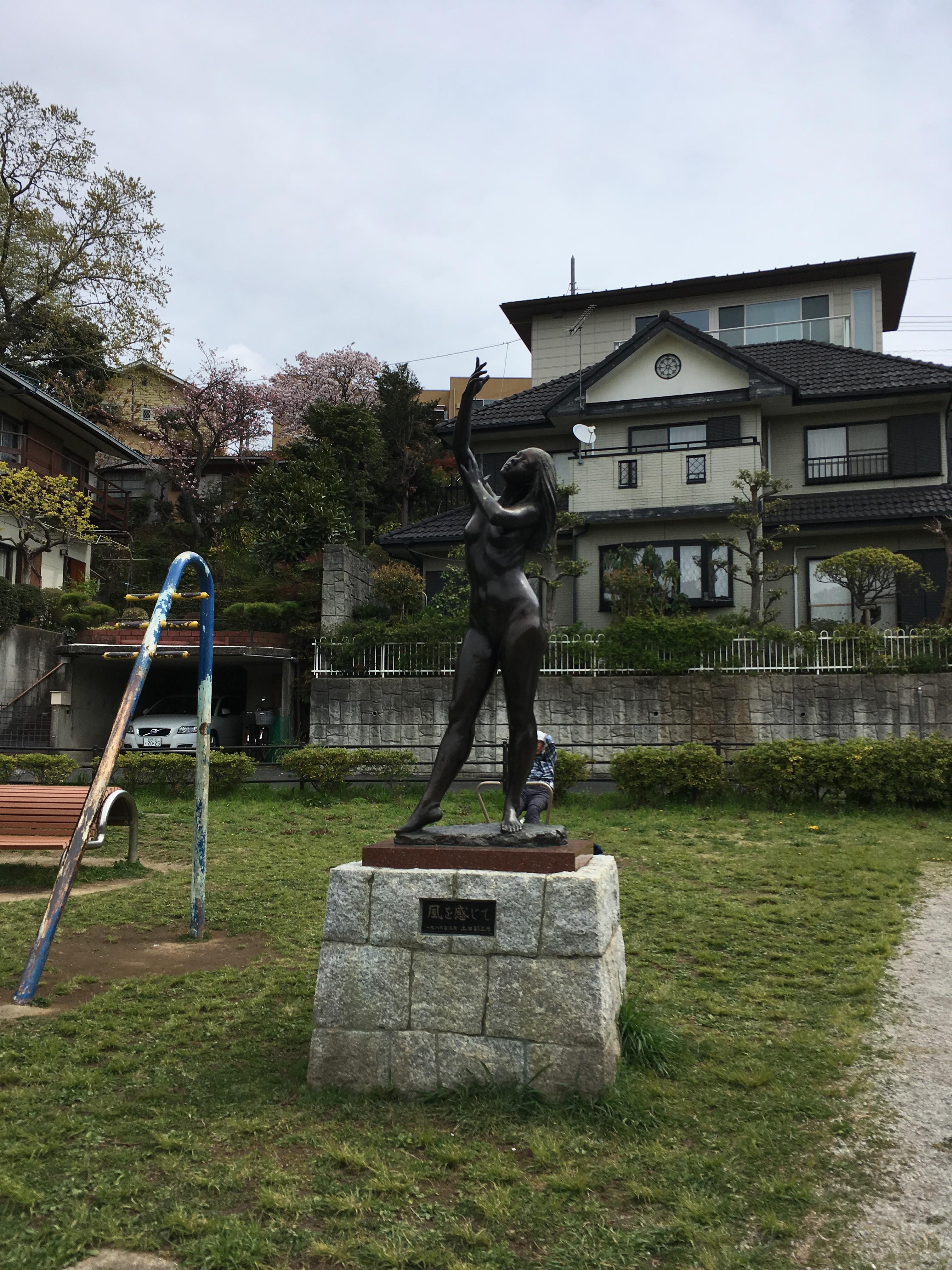 じゅん菜池緑地の銅像