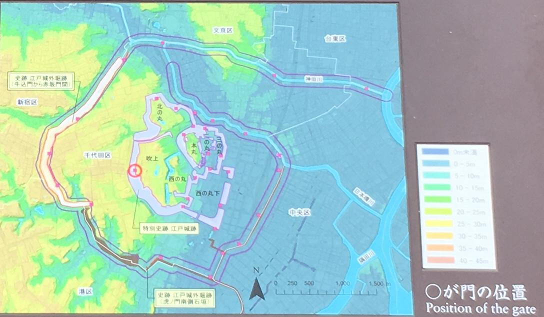 江戸城を取り巻く地形と文化財