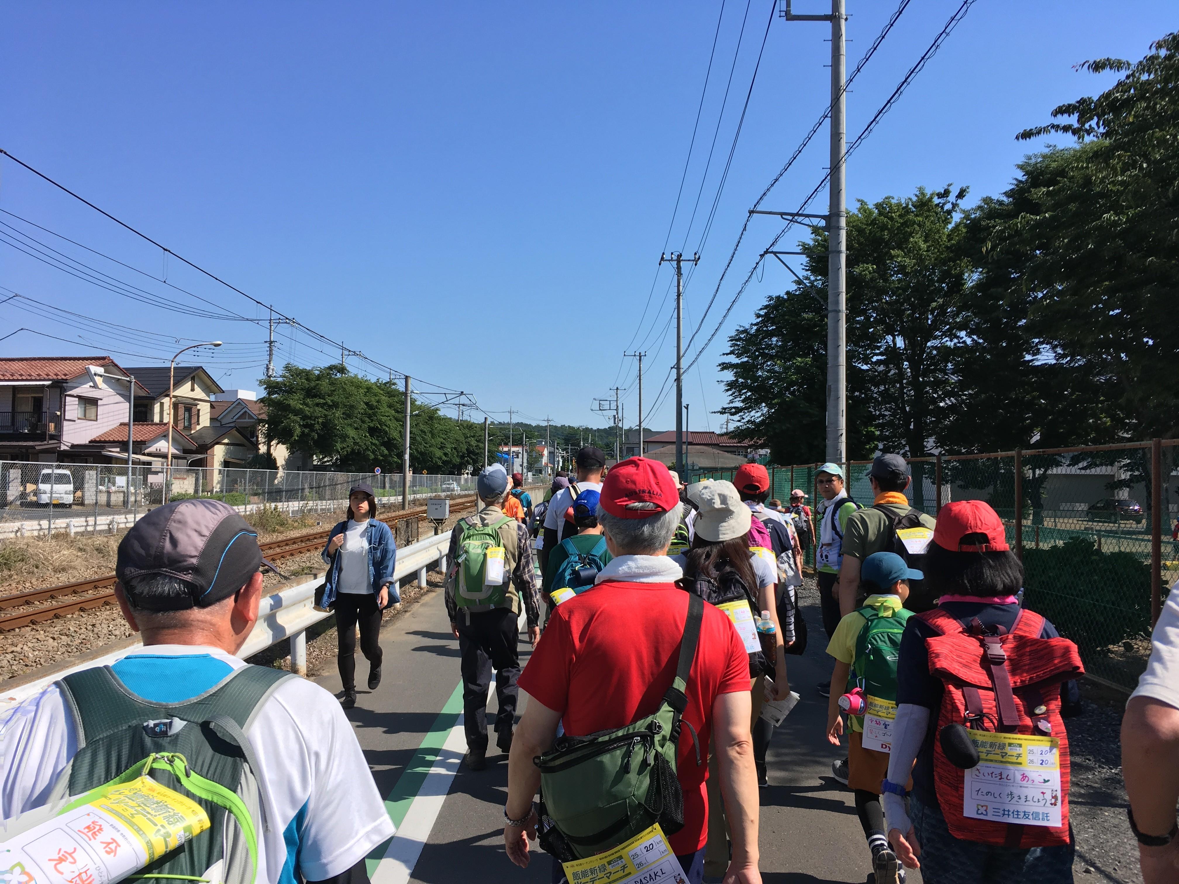 飯能市立富士見小学校脇道路(八高線)
