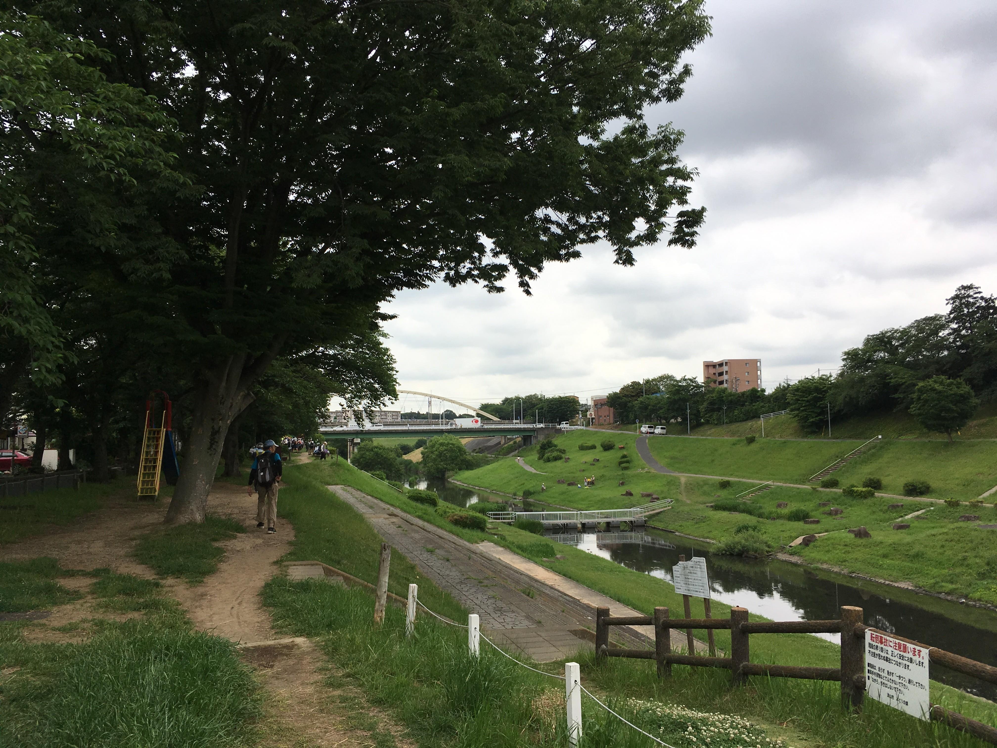 運河水辺公園(WC)(スタート)