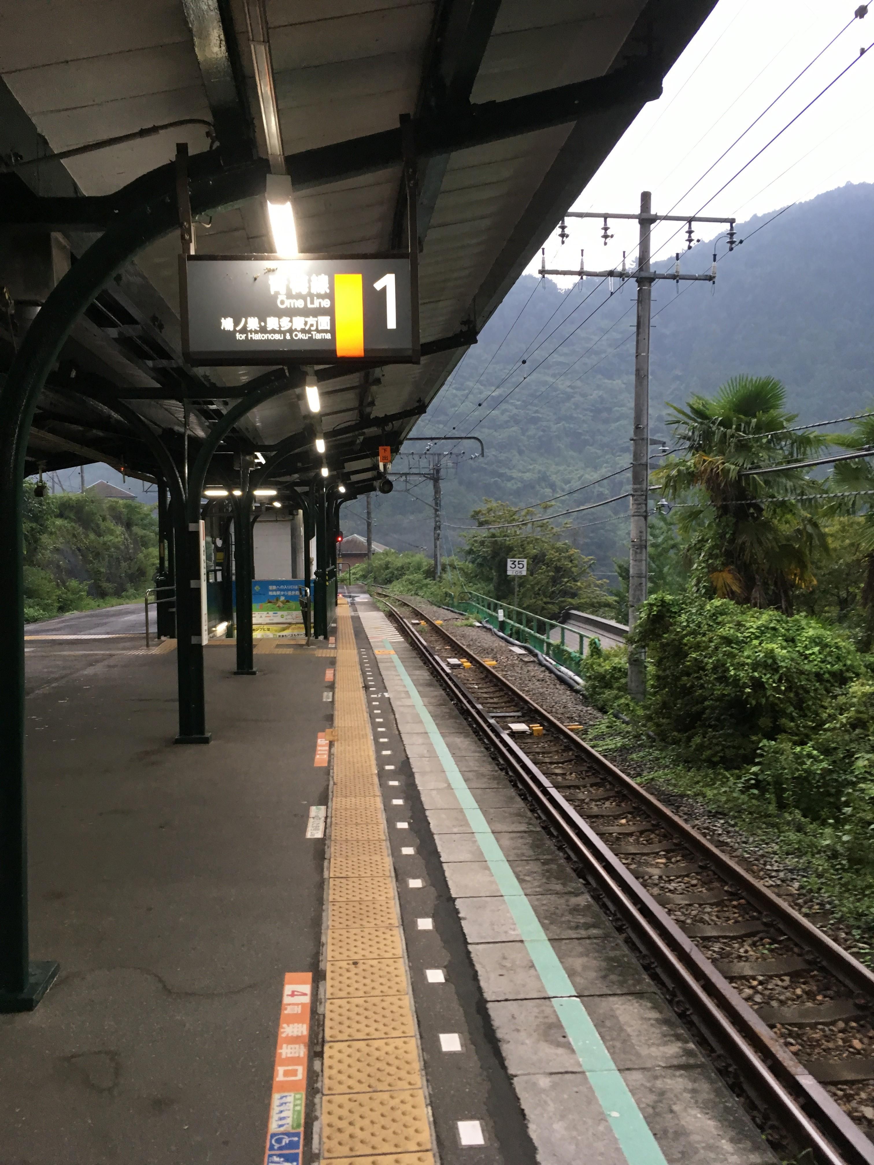 JR御嶽駅ホーム