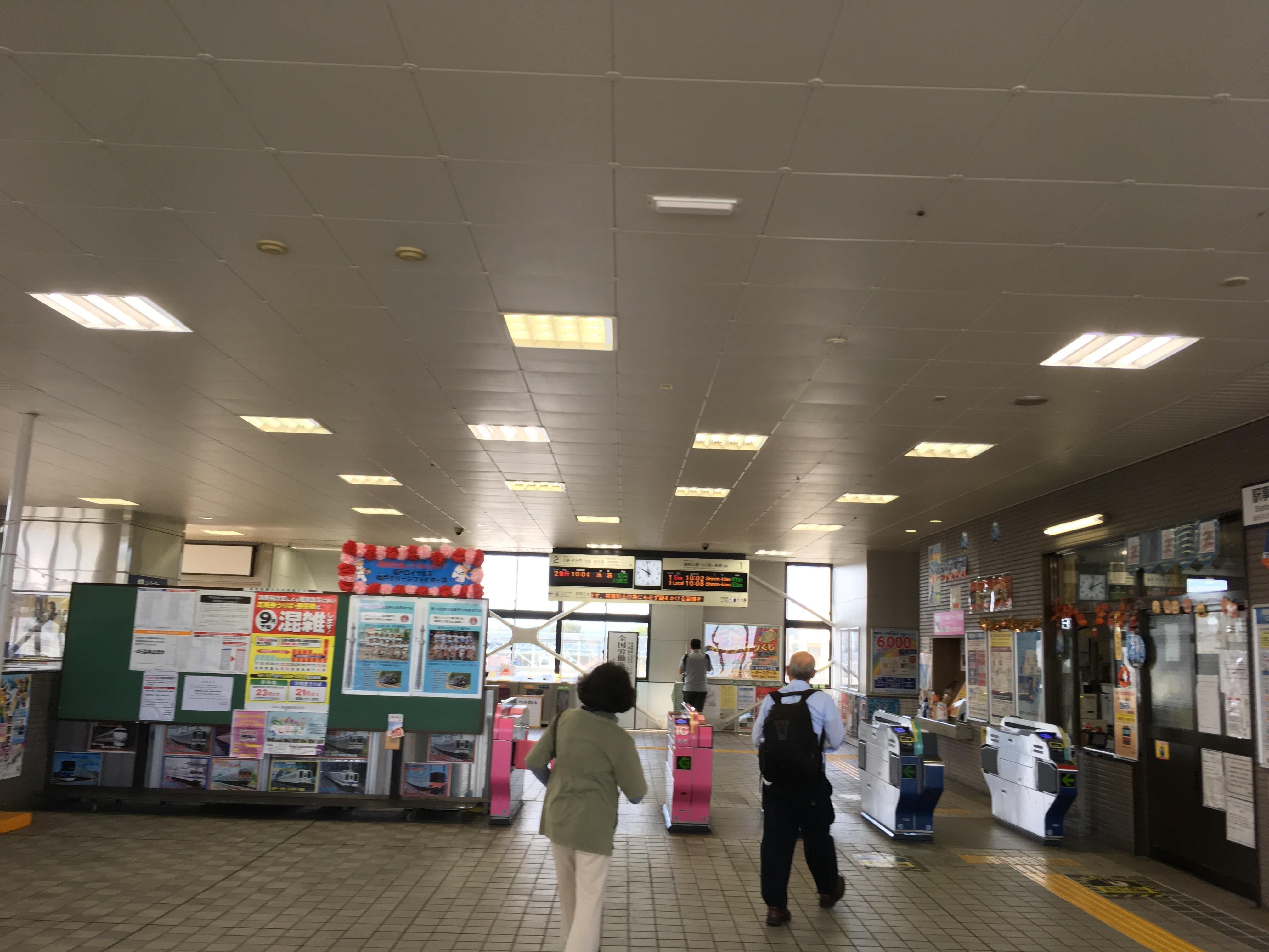 北坂戸駅構内
