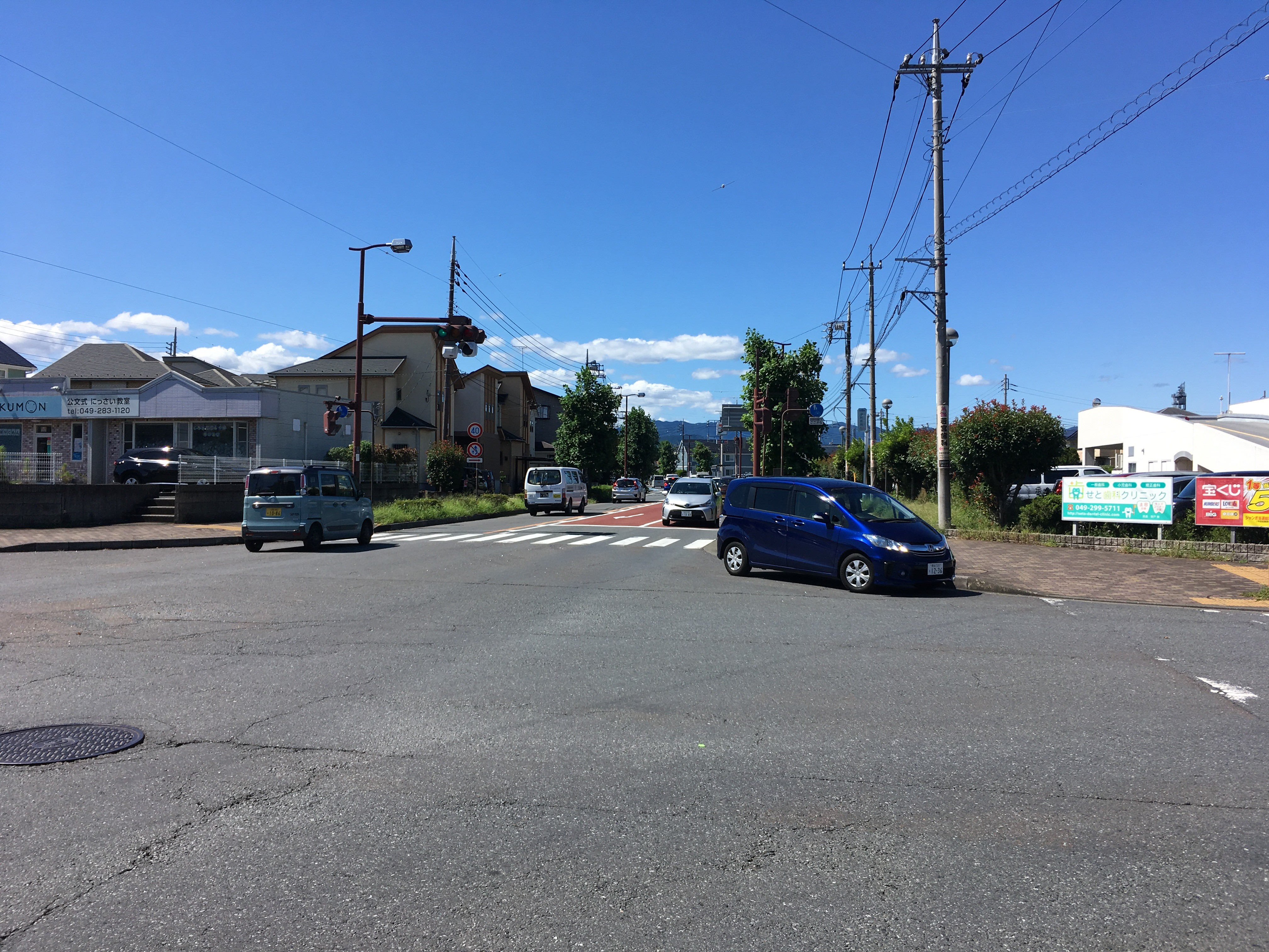 観音通りと川越坂戸毛呂山通り交差点