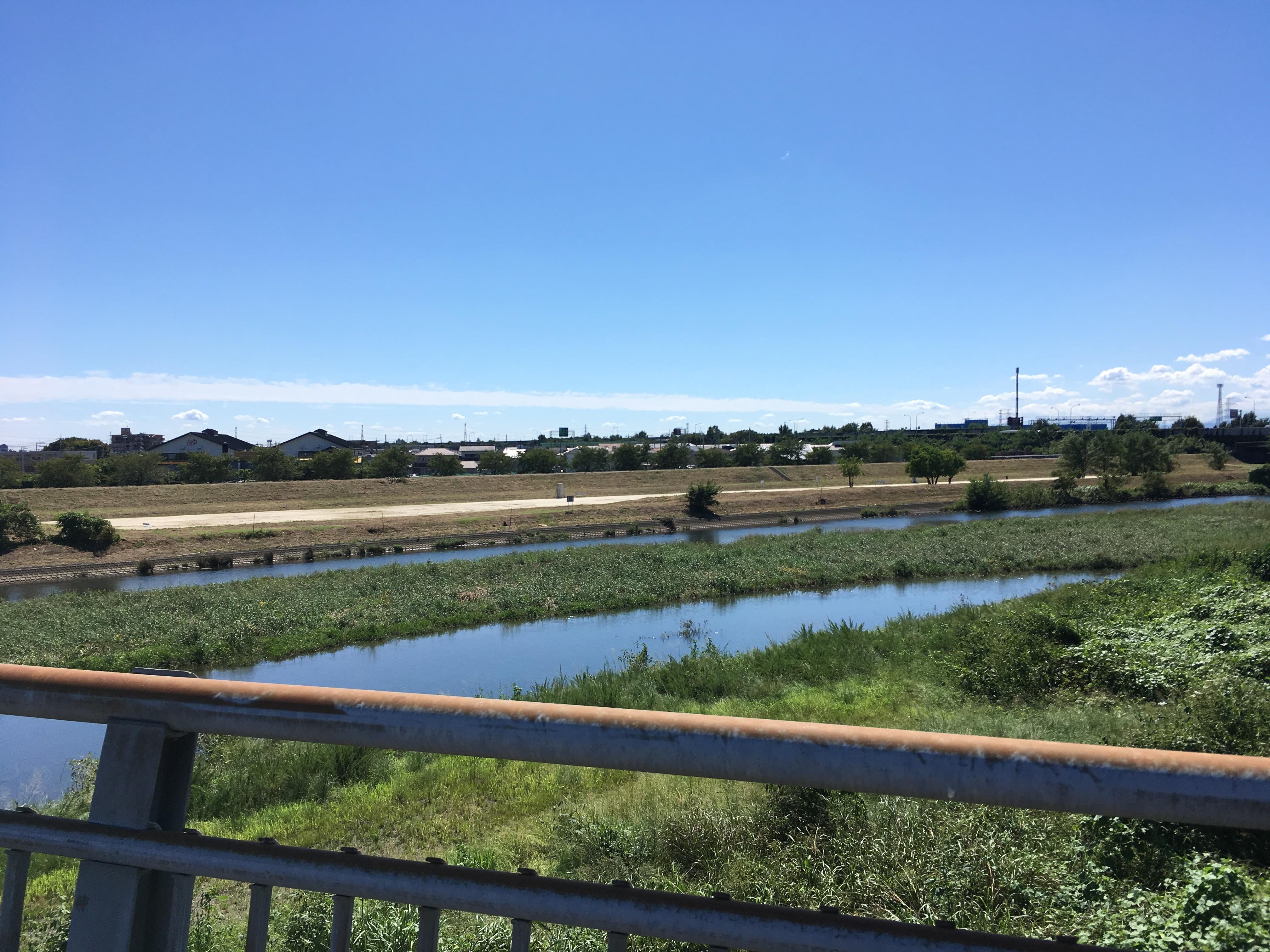 高麗川大橋からの風景