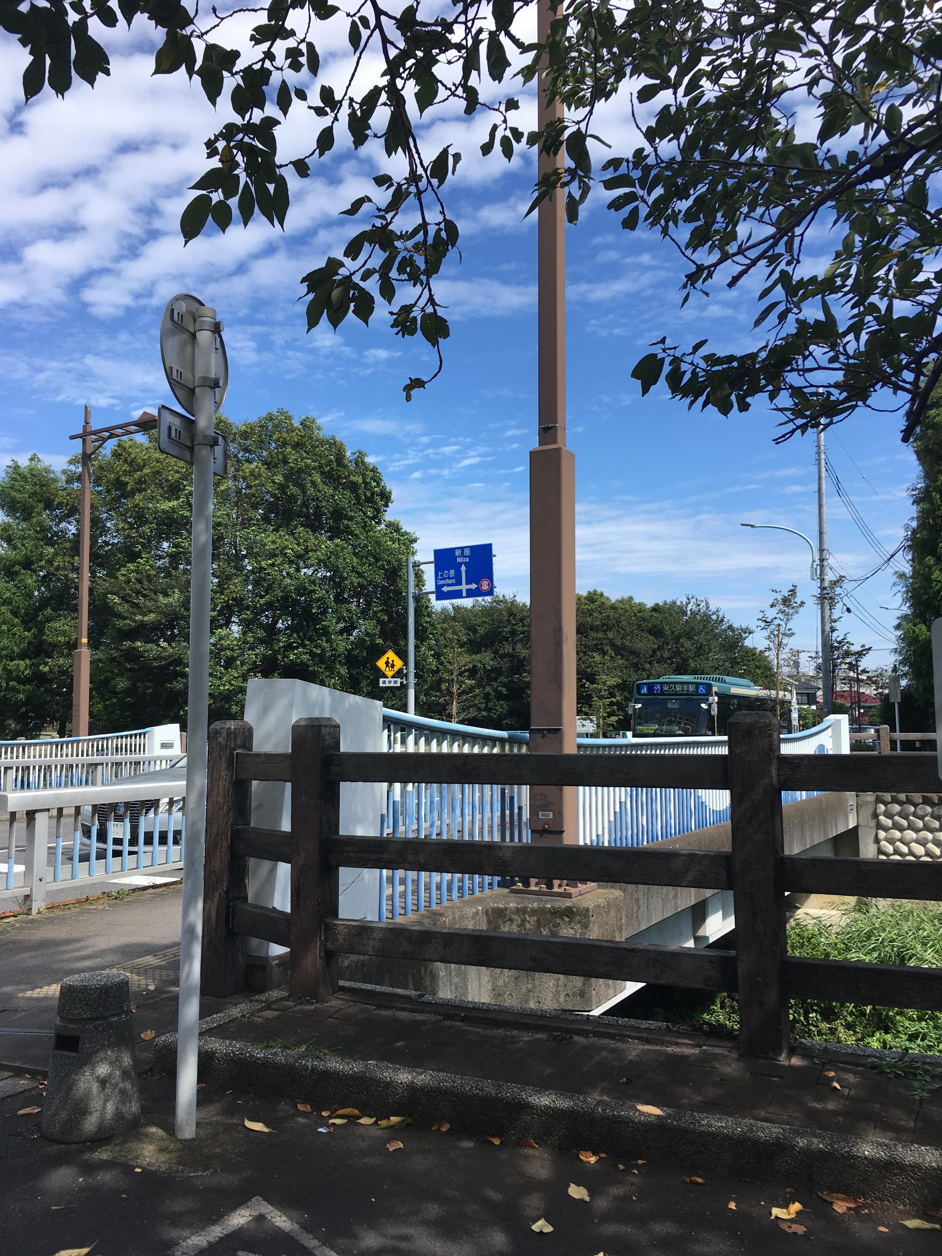 黒目川神山大橋(浄牧院通り)