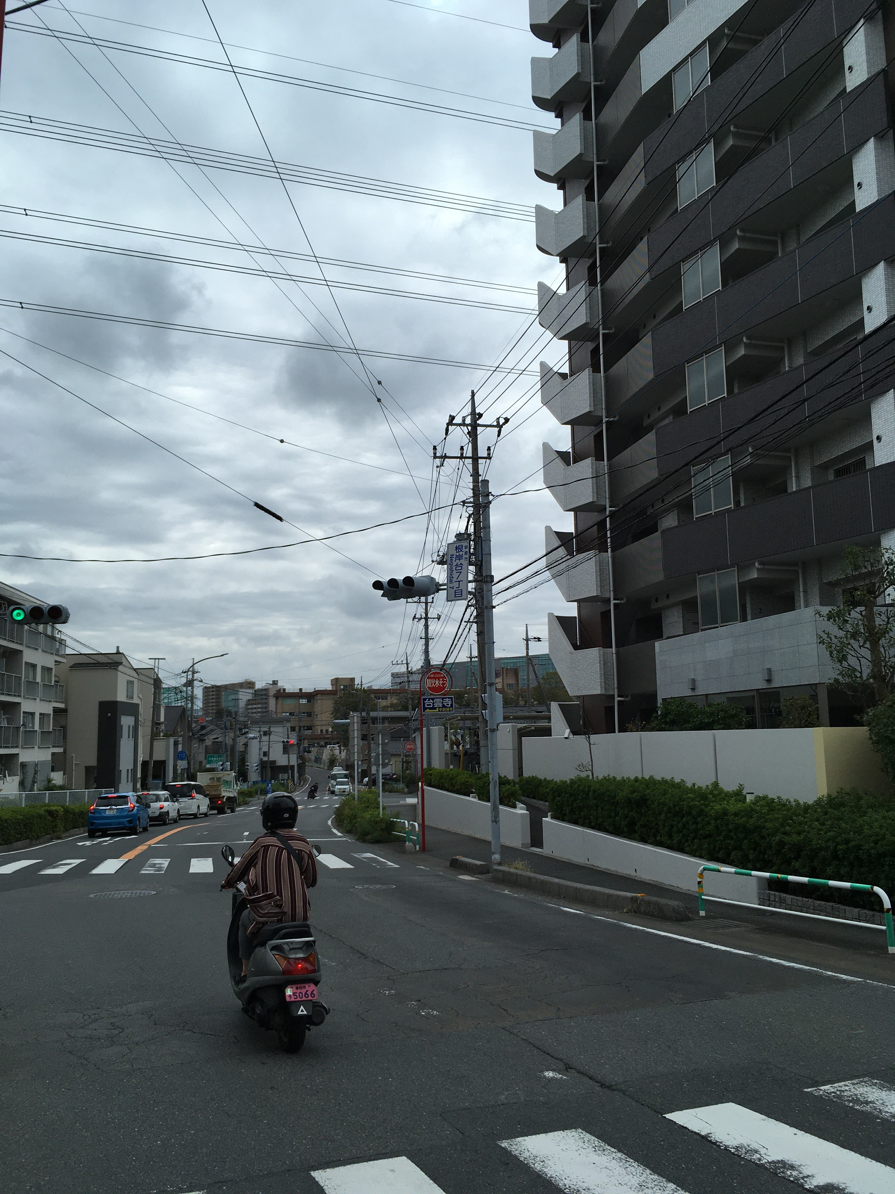 根岸台7丁目交差点(スタート)