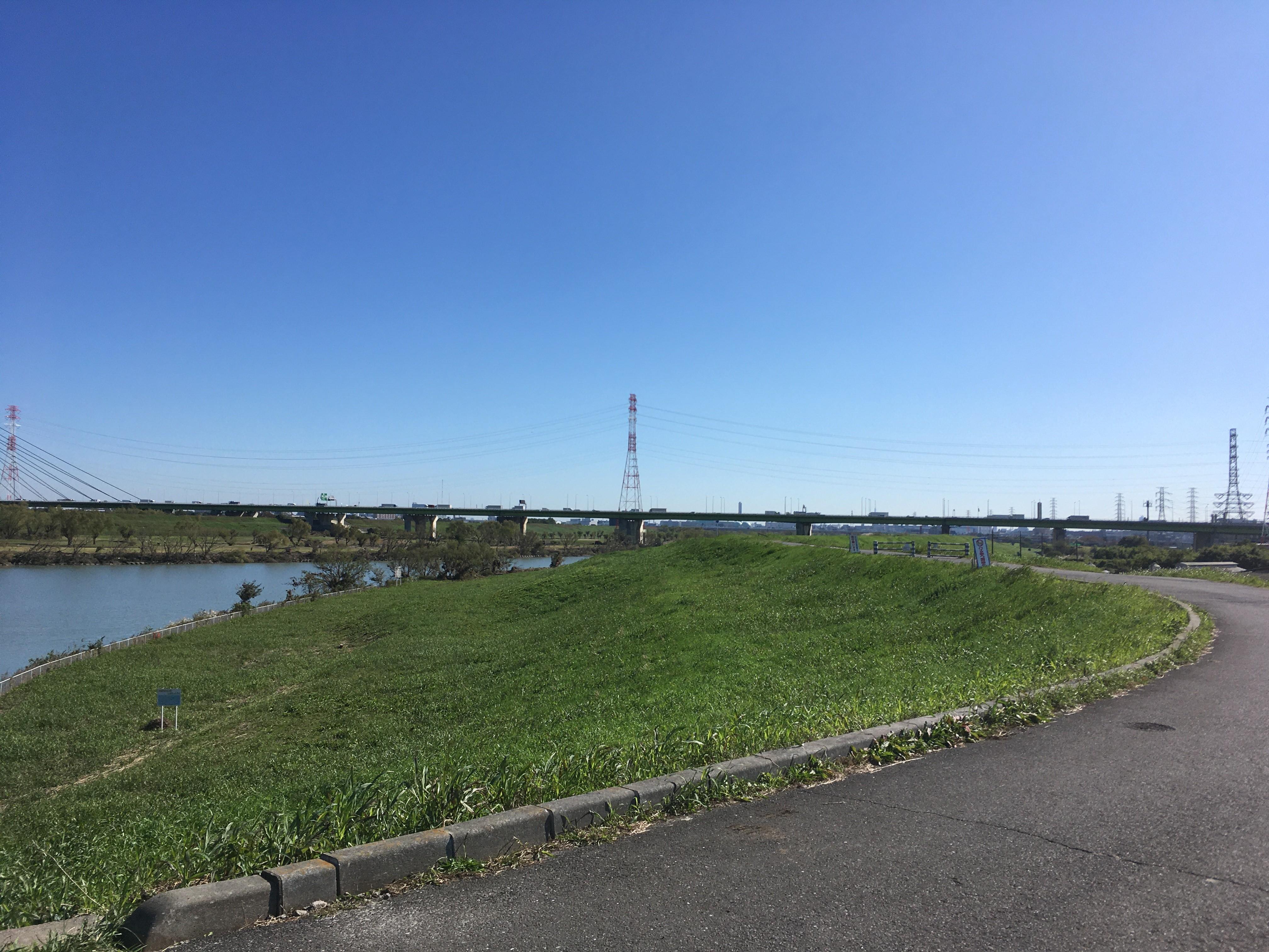 朝霞水門からの風景