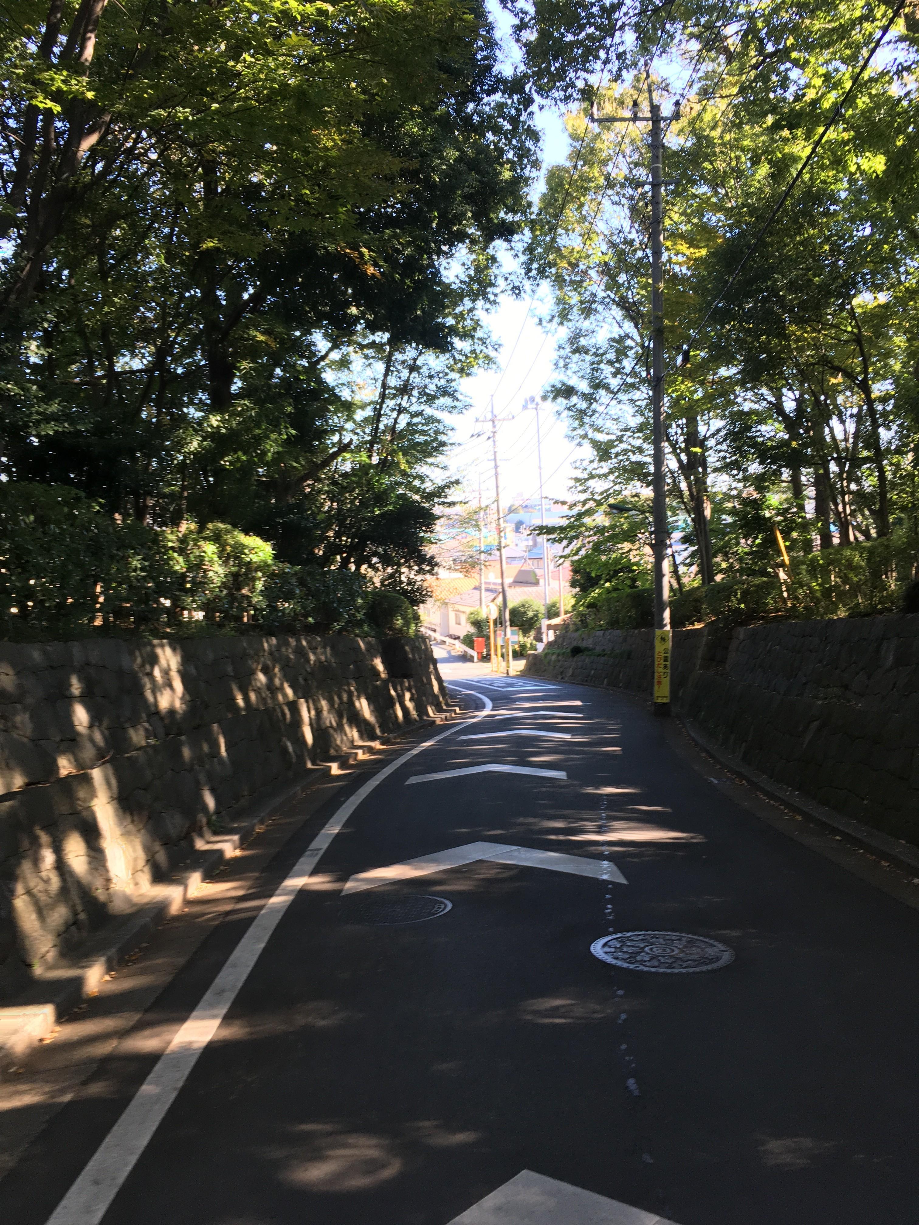 水久保公園脇道