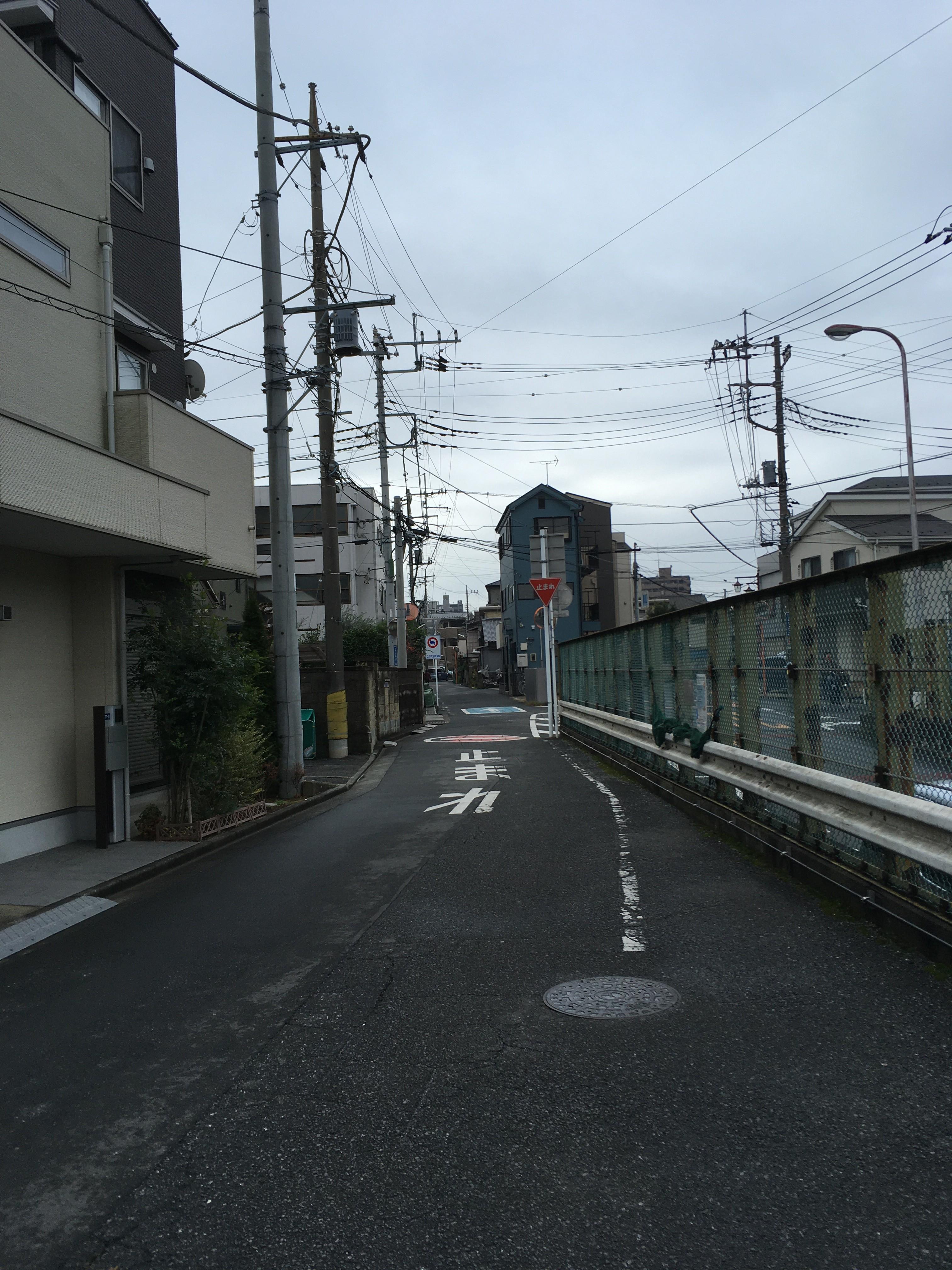 公園通り本町隊道(東武東上線高架下)側道